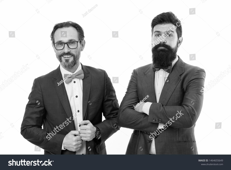 Brilliant Partnership Bearded Men Partnership Collaboration Mature People Natural Hairstyles Runnerswayorg
