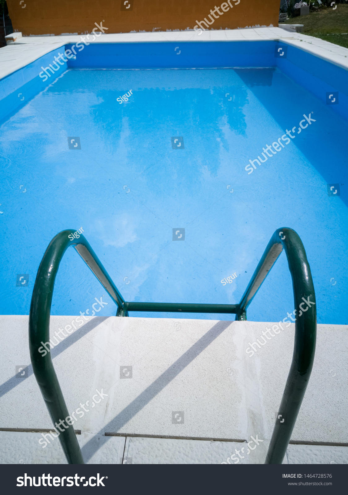 Small Outdoor Pool No People Seen Stock Photo Edit Now 1464728576