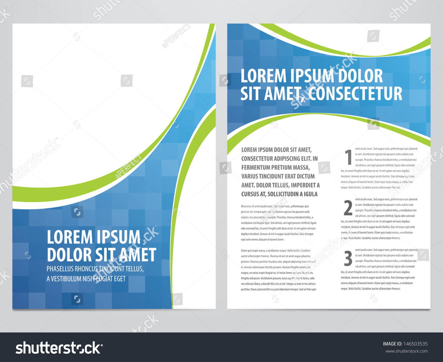 templates for flyers and brochures - vector business brochure flyer template 146503535