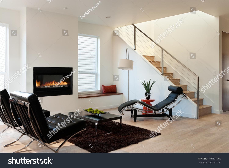 Modern Luxury Living Roomhorizontal Shot Modern Stock Photo