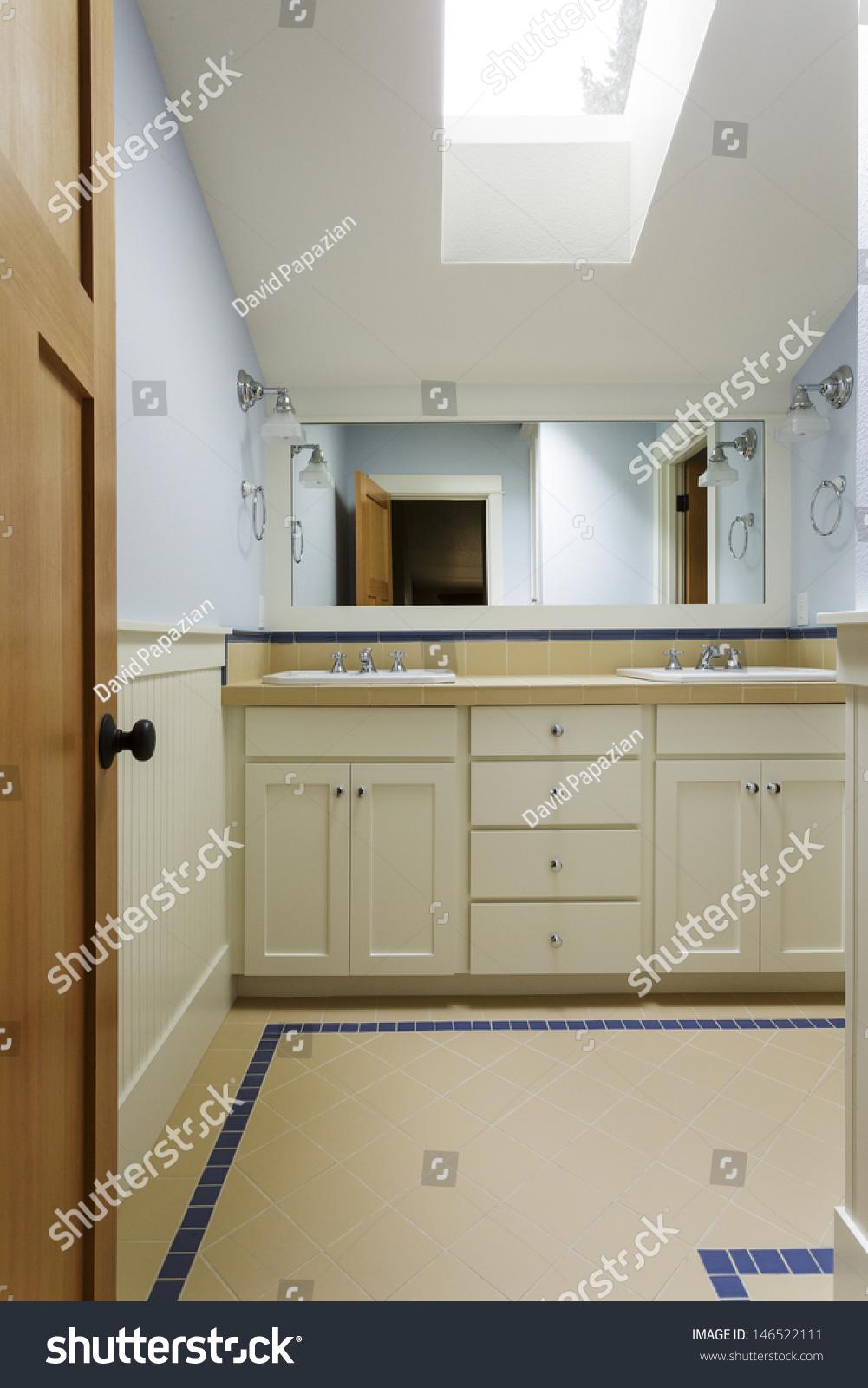 Image of: Bathroom Vanitycustom Master Bathroom Vanity Double Stock Photo Edit Now 146522111