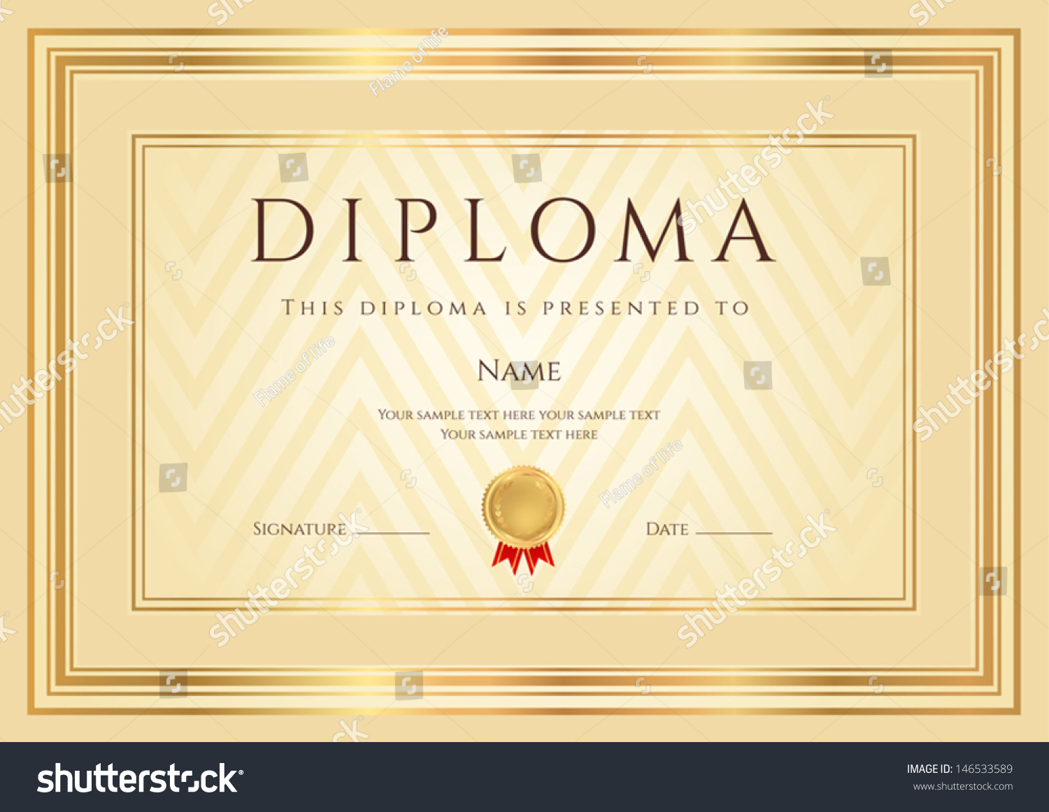 ... for: Certificate of Achievement, Certificate of education, awards