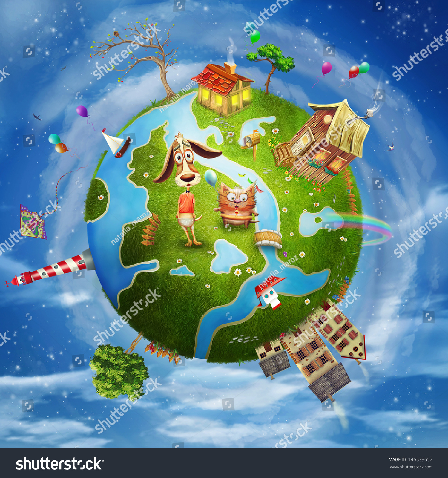 Stock Photo A Spring Day On Planet Earth