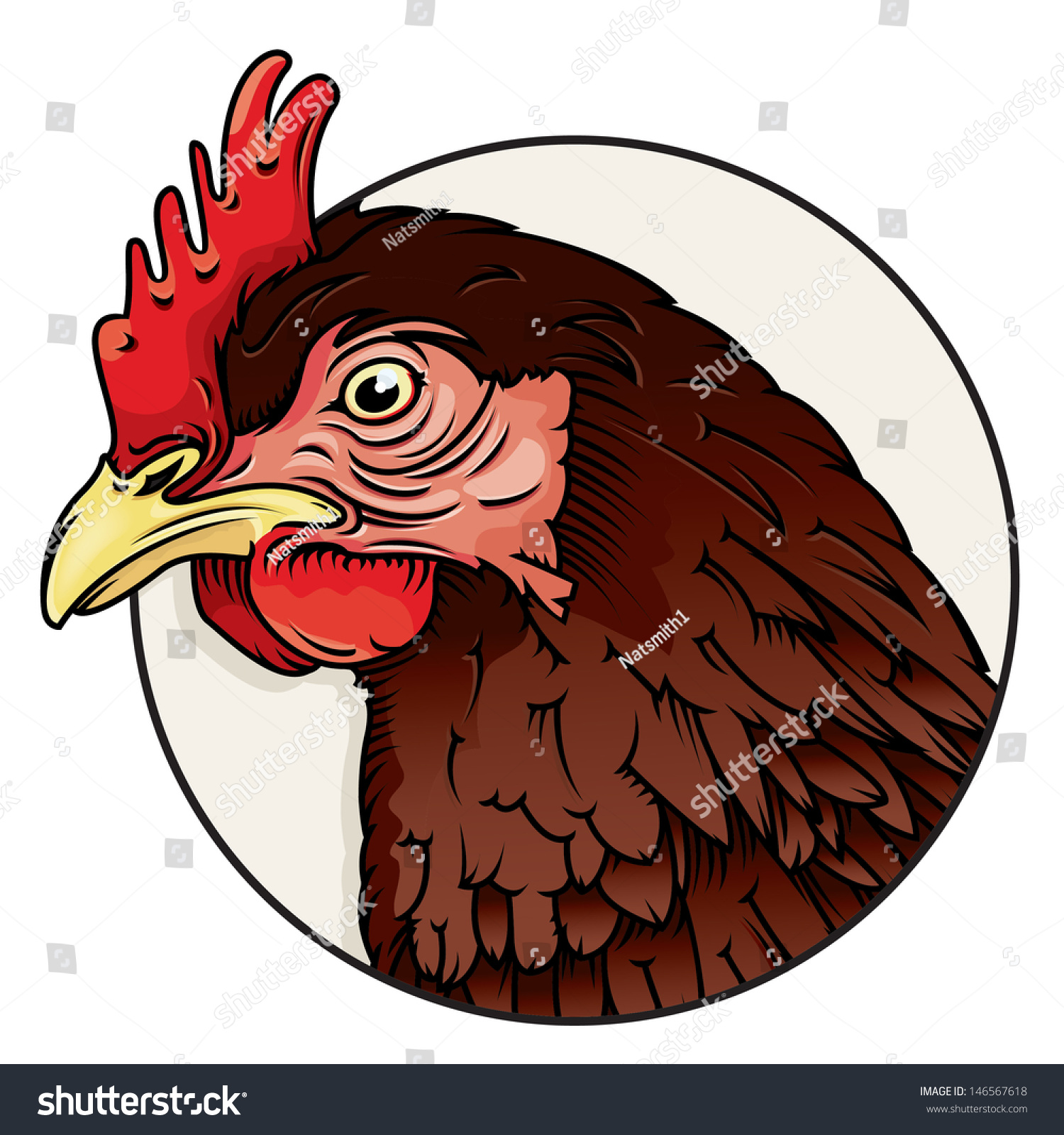 vector drawing of a chicken headchicken head easy to edit layers and groups