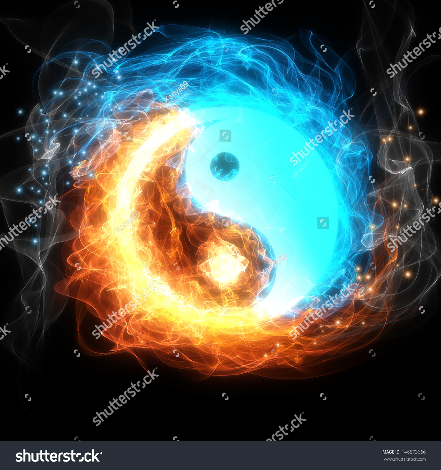 Yinyang Symbol Ice Fire Stock Illustration 146573666 Shutterstock