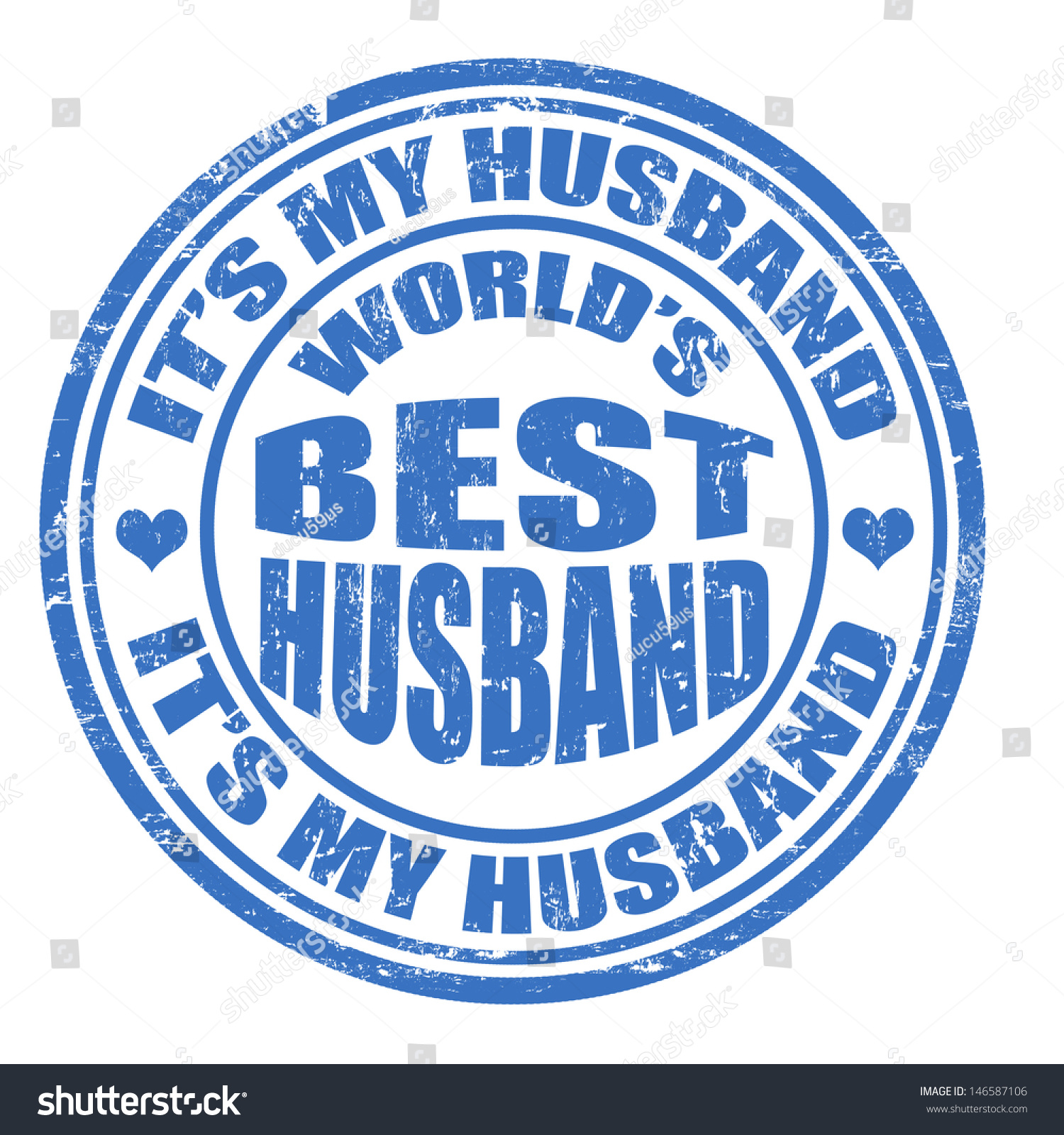 Grunge Worlds Best Husband Rubber Stamp Stock Vector Royalty Free