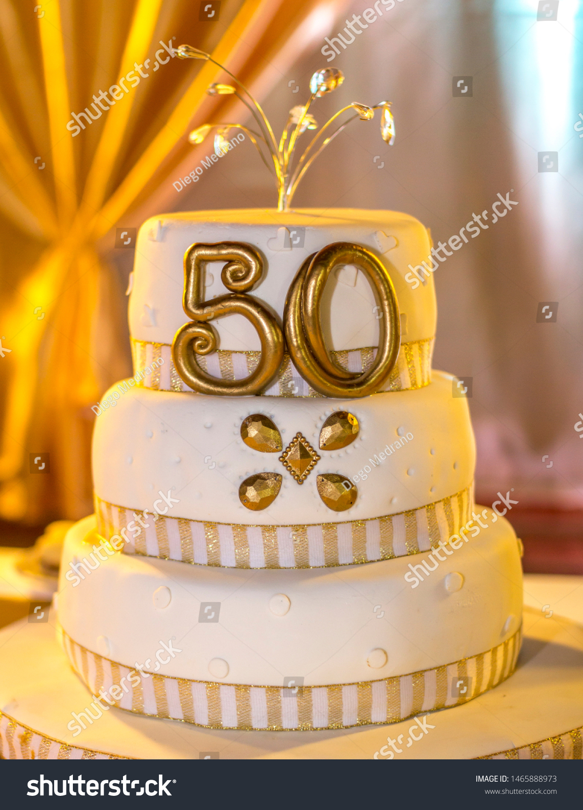 Brilliant 50 Years Old Birthday Cake Stock Photo Edit Now 1465888973 Personalised Birthday Cards Veneteletsinfo