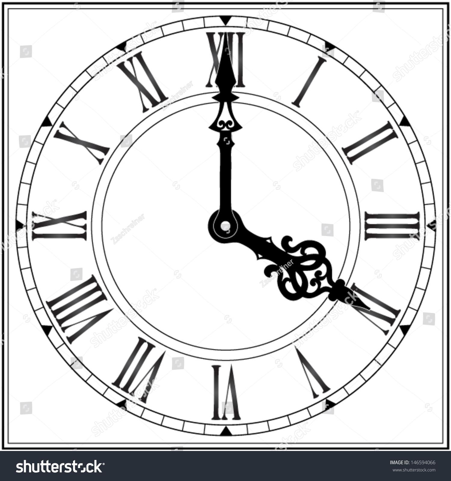 Worksheet Roman Numersl elegant roman numeral clock vector illustration stock illustration
