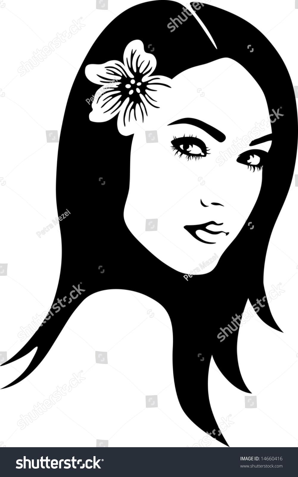 A Beautiful Cartoon Girl Face Beautiful Woman'S Face...