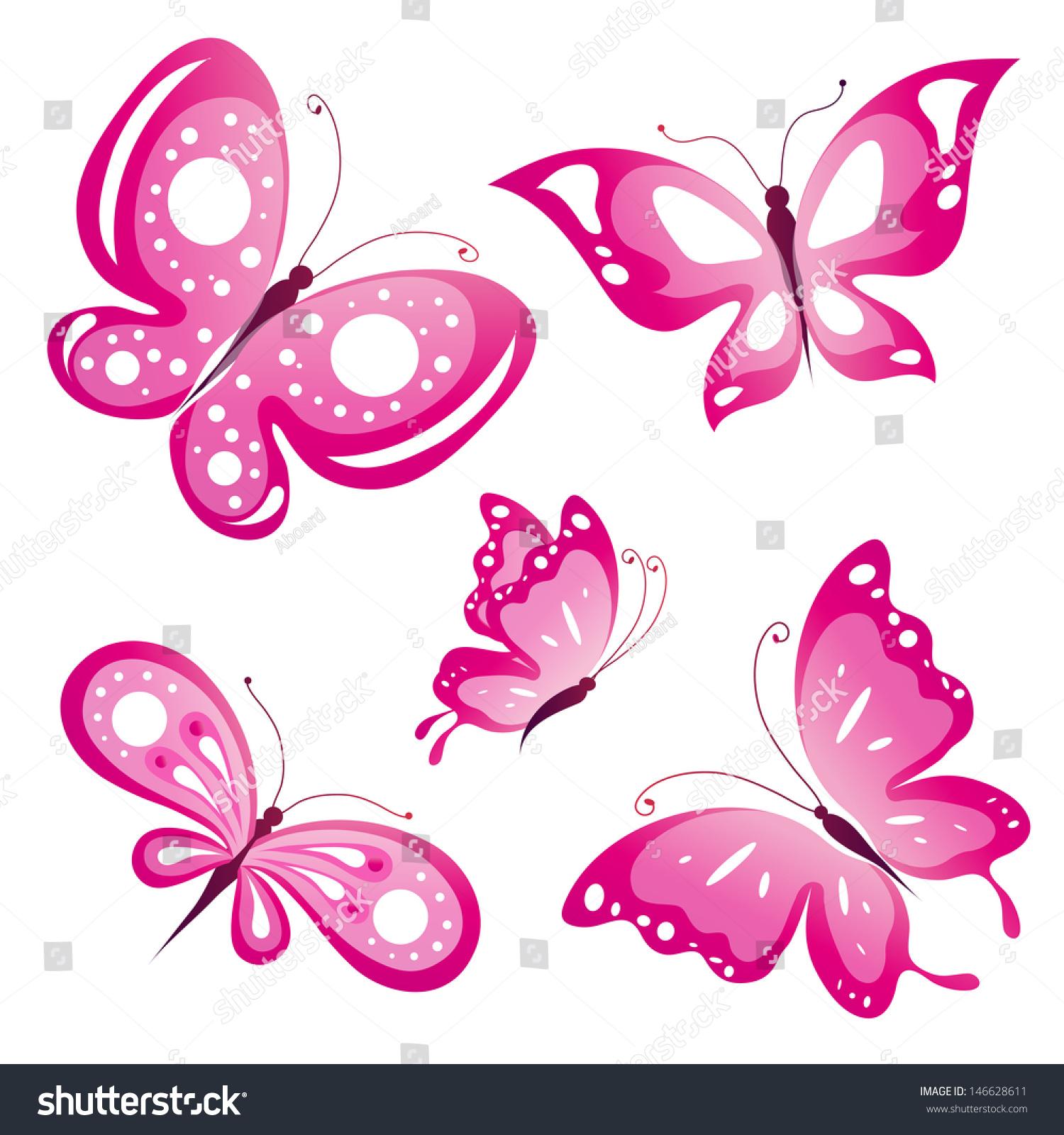 https://image.shutterstock.com/z/stock-vector-pink-butterflies-design-vector-146628611.jpg Pink Butterfly Graphics