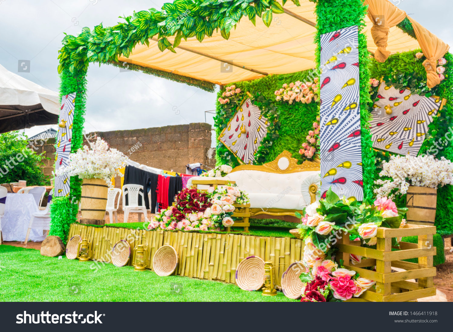 Beautiful Traditional Wedding Decoration Stage Couple Stock Photo (Edit  Now) 1466411918