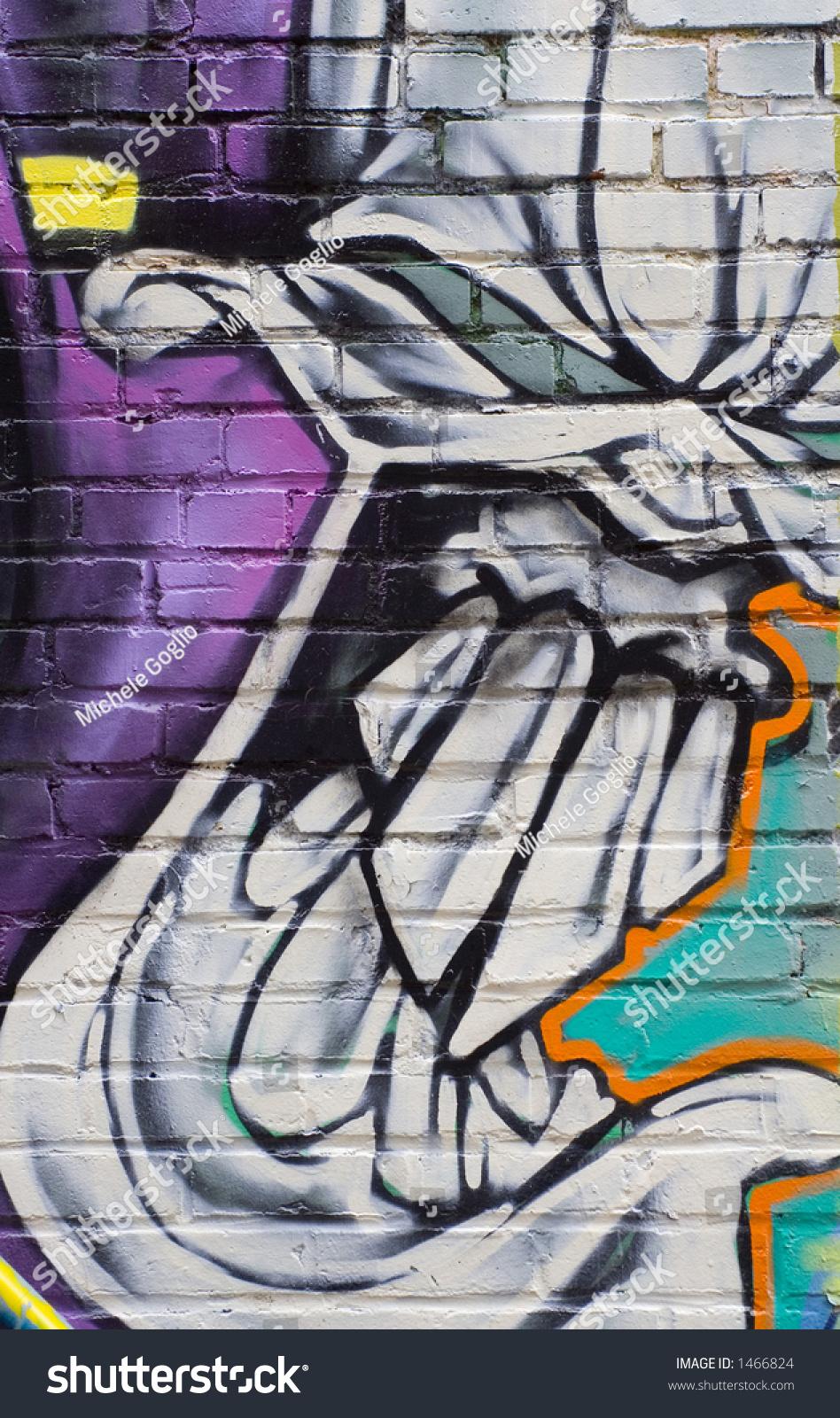 Graffiti De Tete De Mort Stock Photo 1466824 Shutterstock
