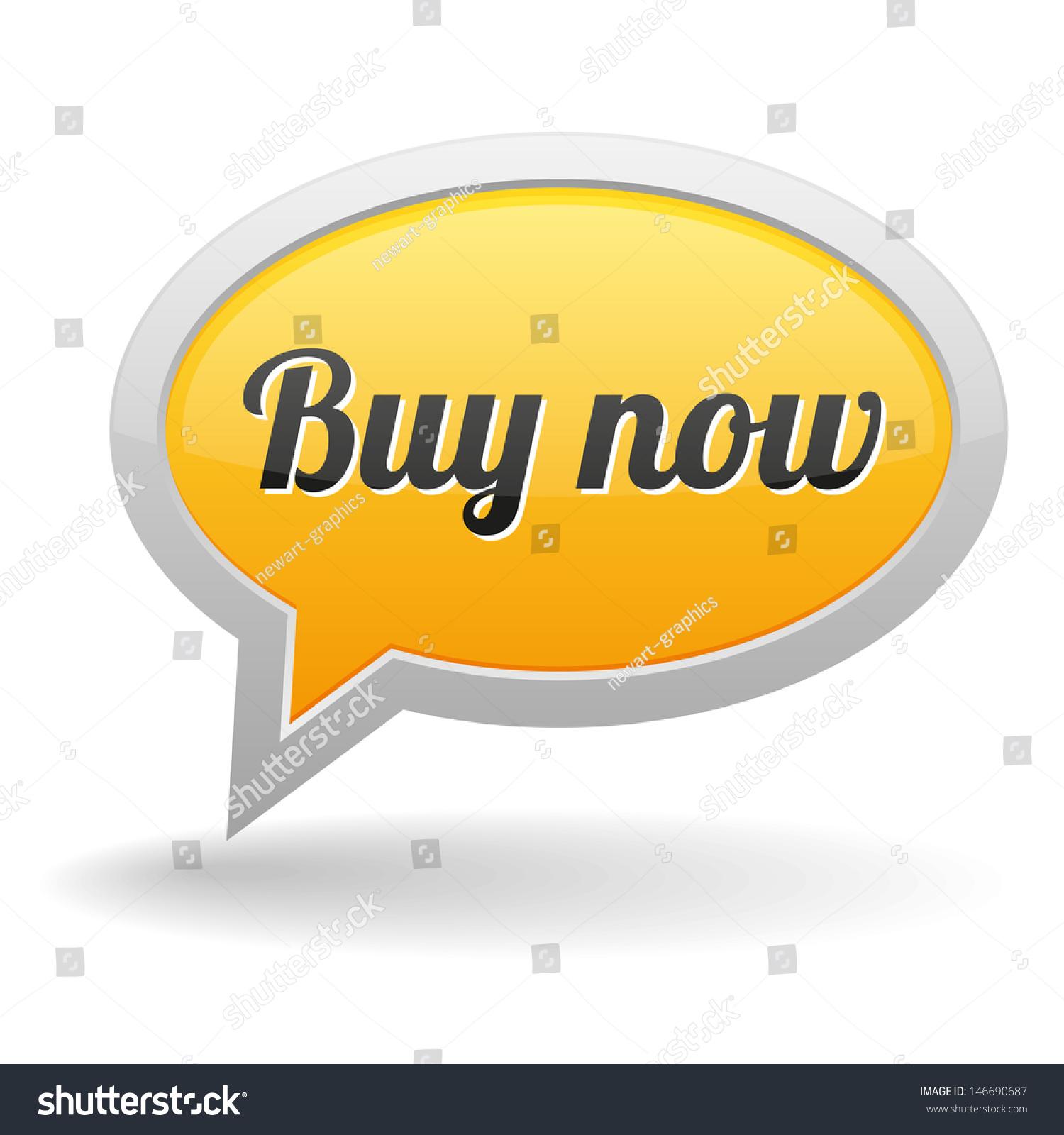 Buy Speech Bubble Stock Vector             Shutterstock Buy me  Speech bubble icon  Vector illustration on white background