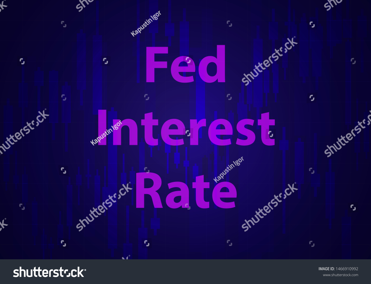 Change Federal Reserve Rate Vector Illustration Stock Vector
