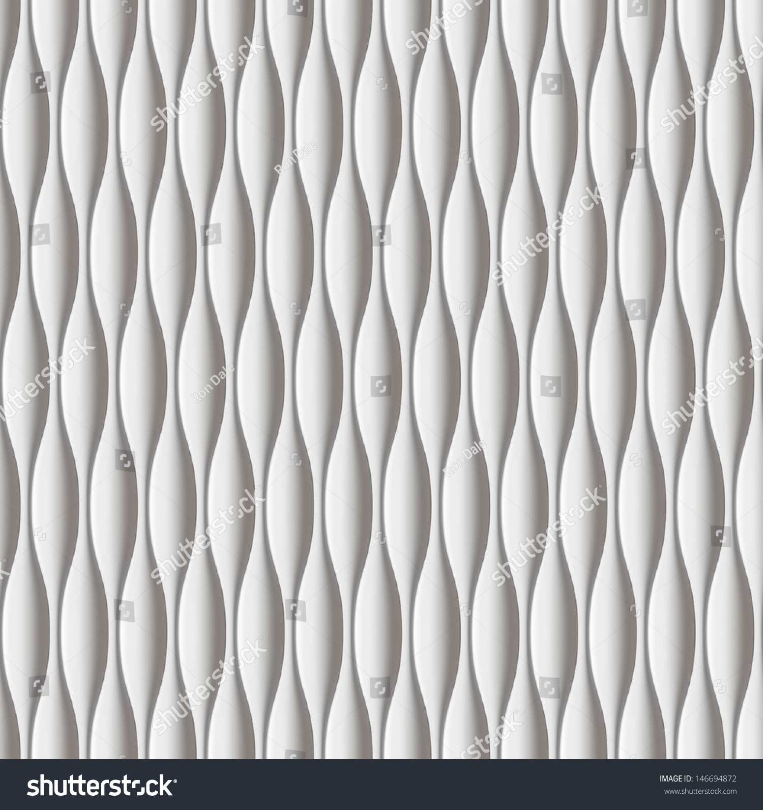 White Seamless Texture Vertical Wavy Background Stock Vector