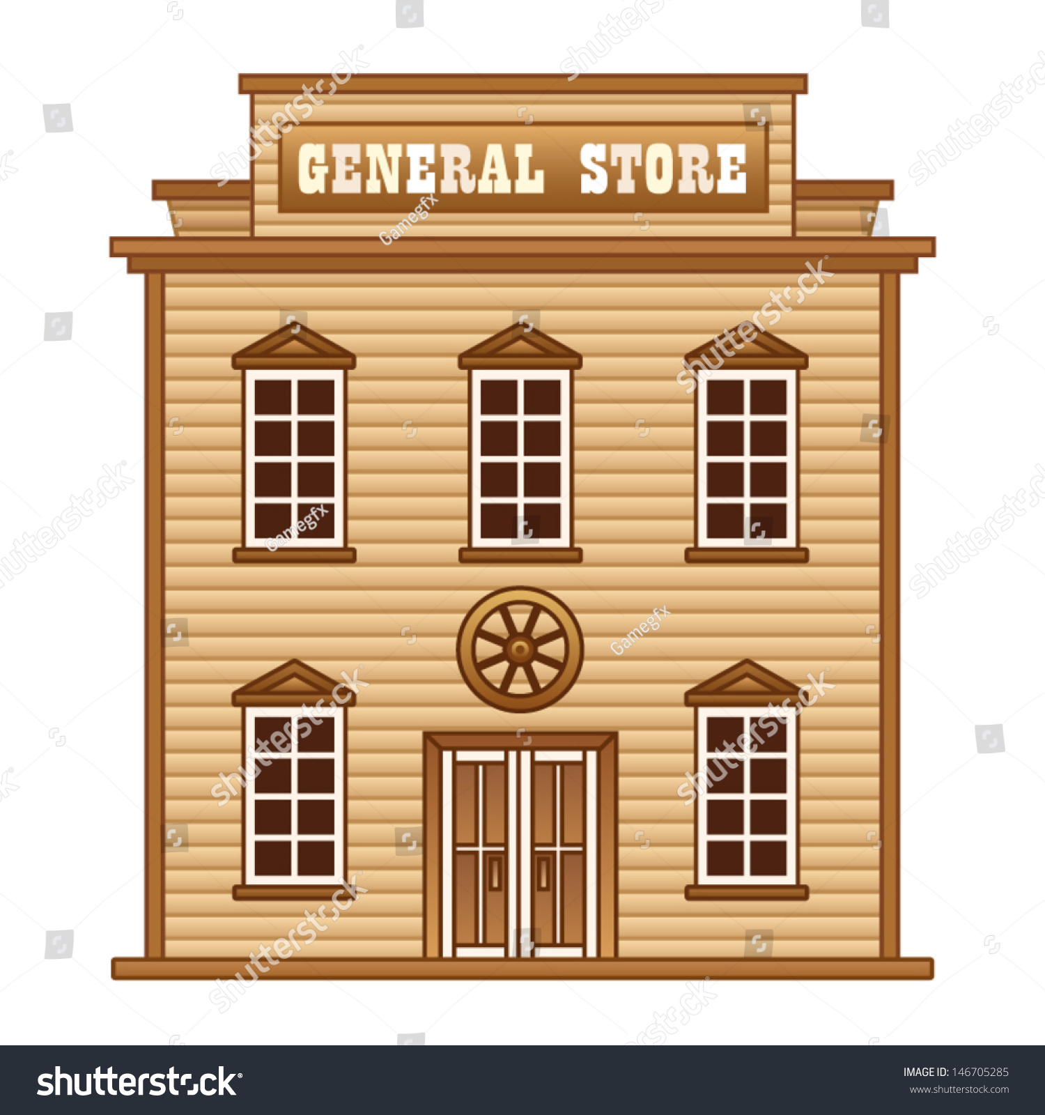 General Store Stock Photos General Store Stock Images: Wild West General Store Stock Vector 146705285
