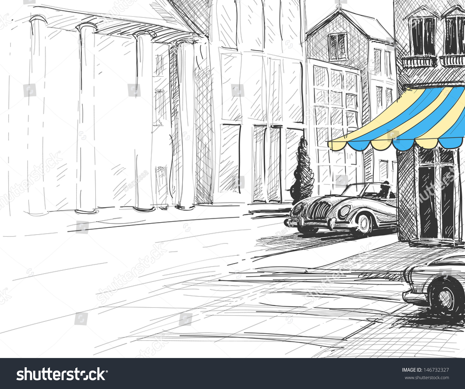 Architecture Drawing Cars interesting architecture drawing cars urban street and stock