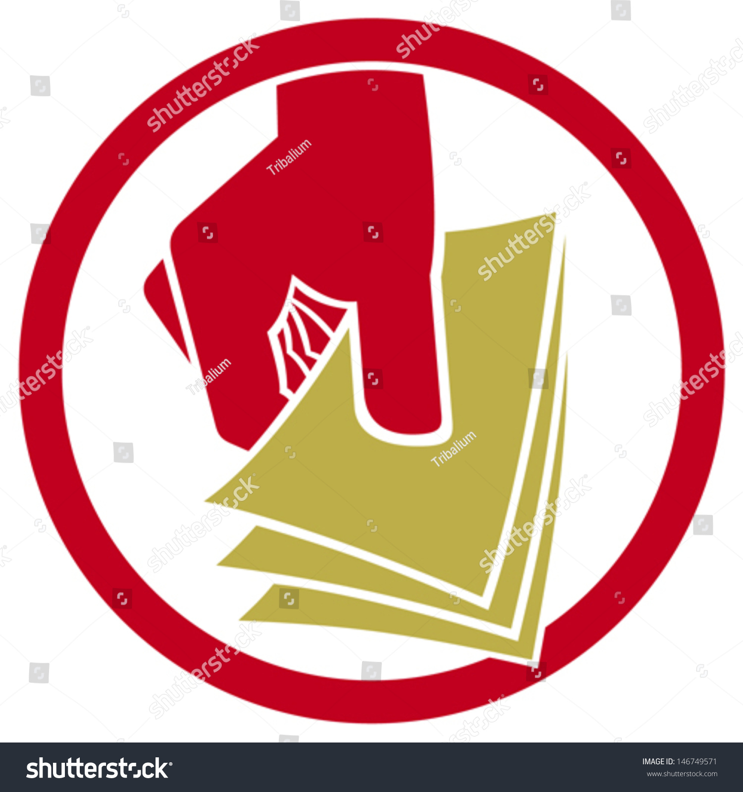 Hand giving money symbol icon stock vector 146749571 shutterstock hand giving money symbol icon buycottarizona