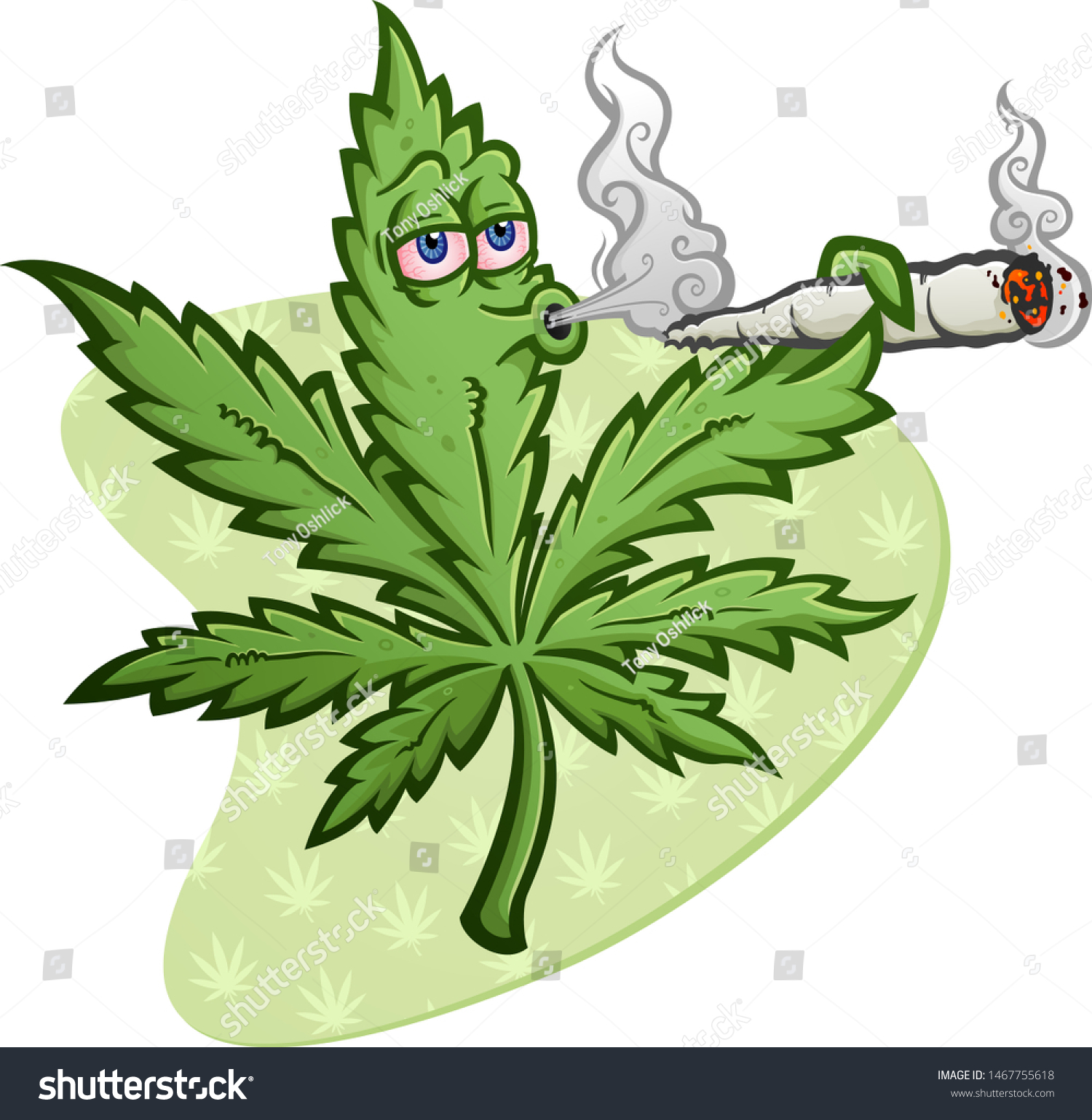 Cheerful Marijuana Vector Cartoon Character Getting Stock Vector Royalty Free 1467755618