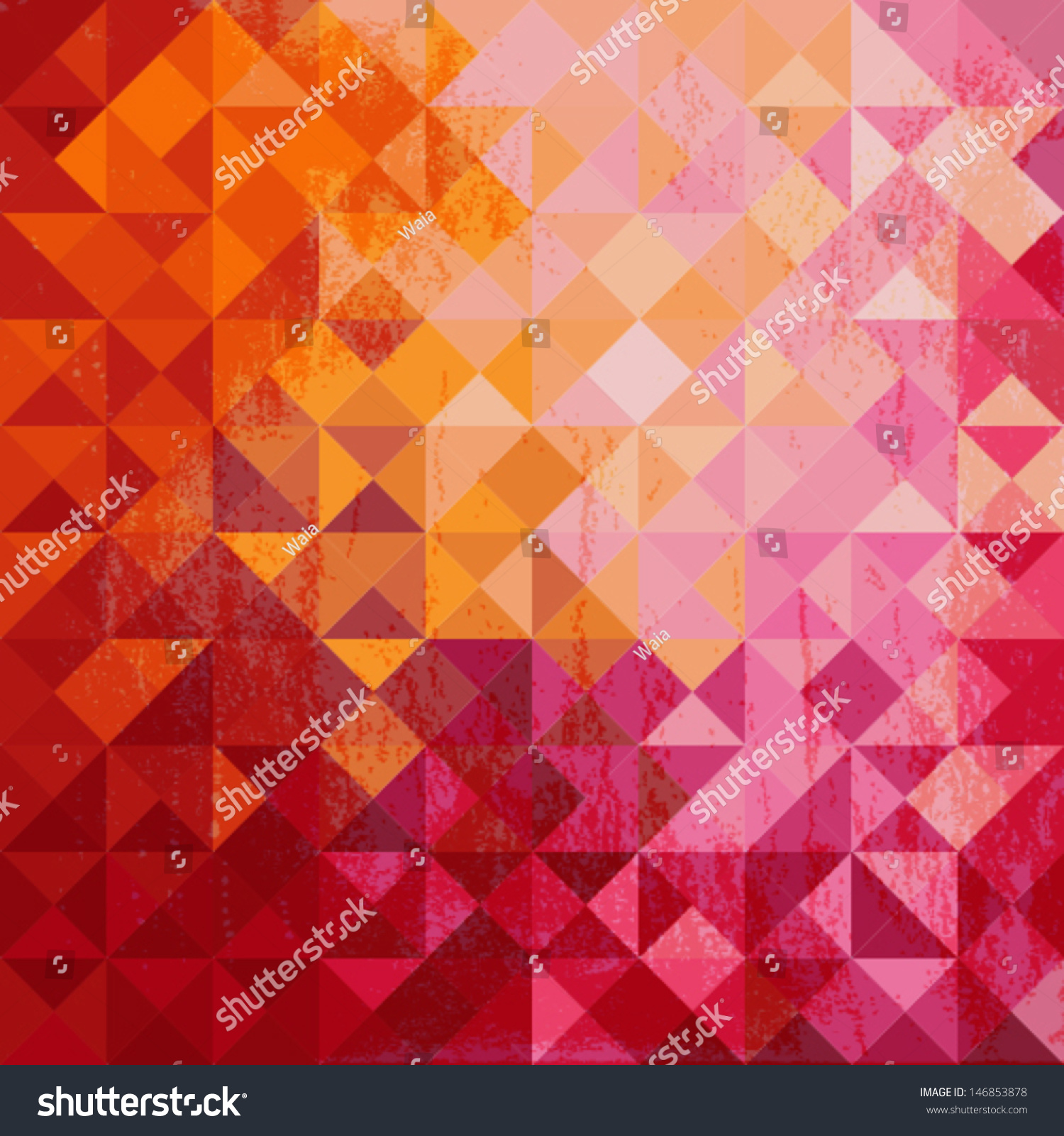 Geometric Background Colored Triangle Warm Colors Stock