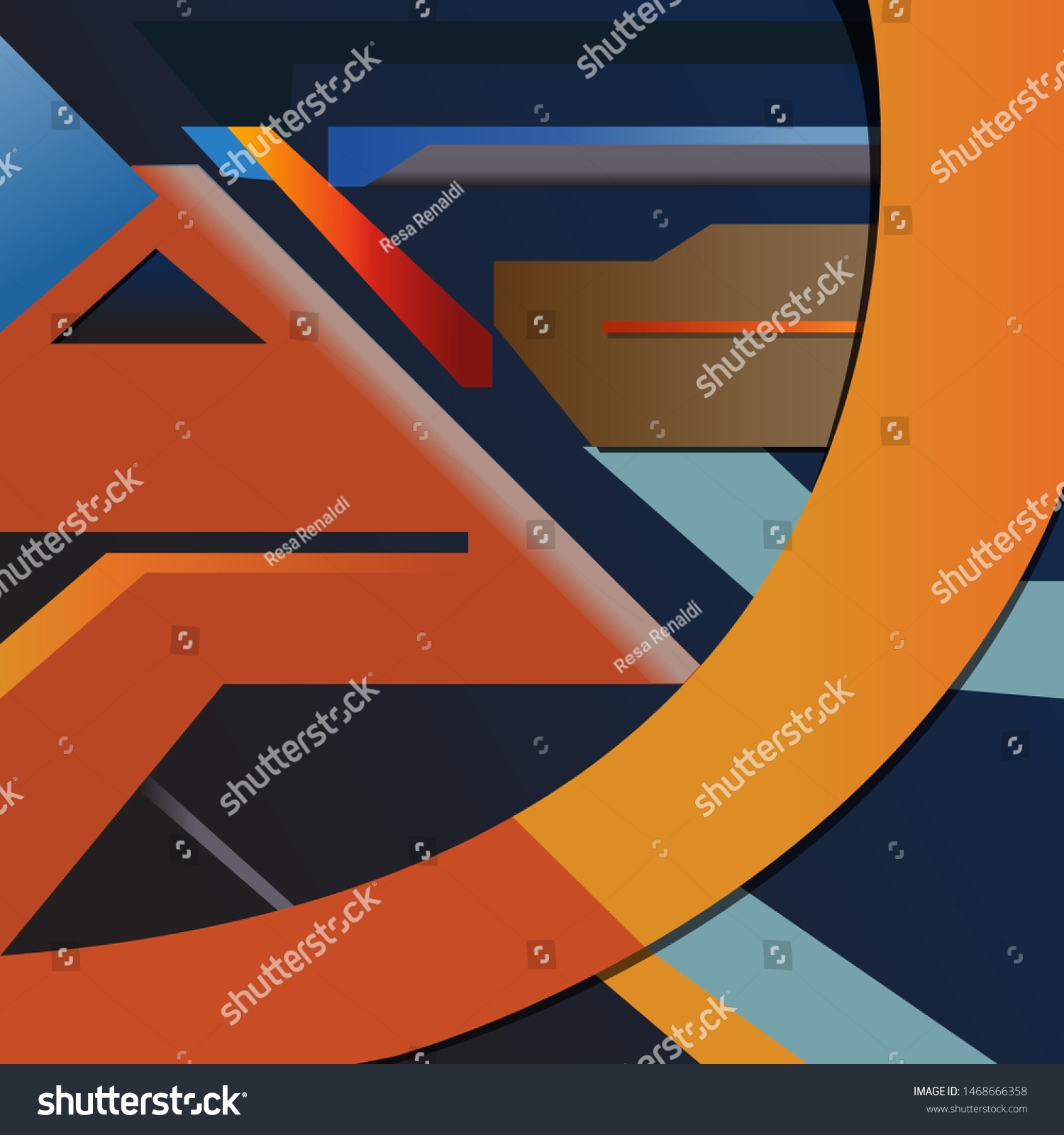 Flat Design Abstrak Wallpaper Vector Stock Vector Royalty