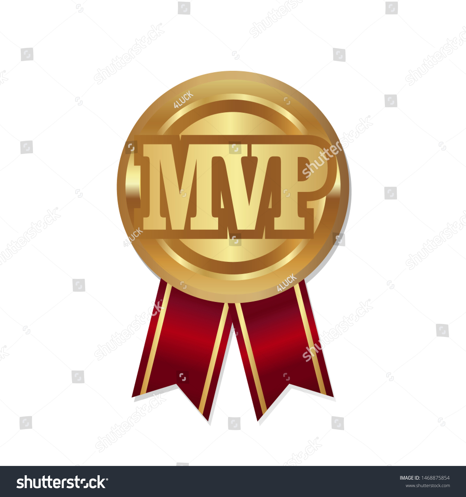 Mvp Medal with Ribbon