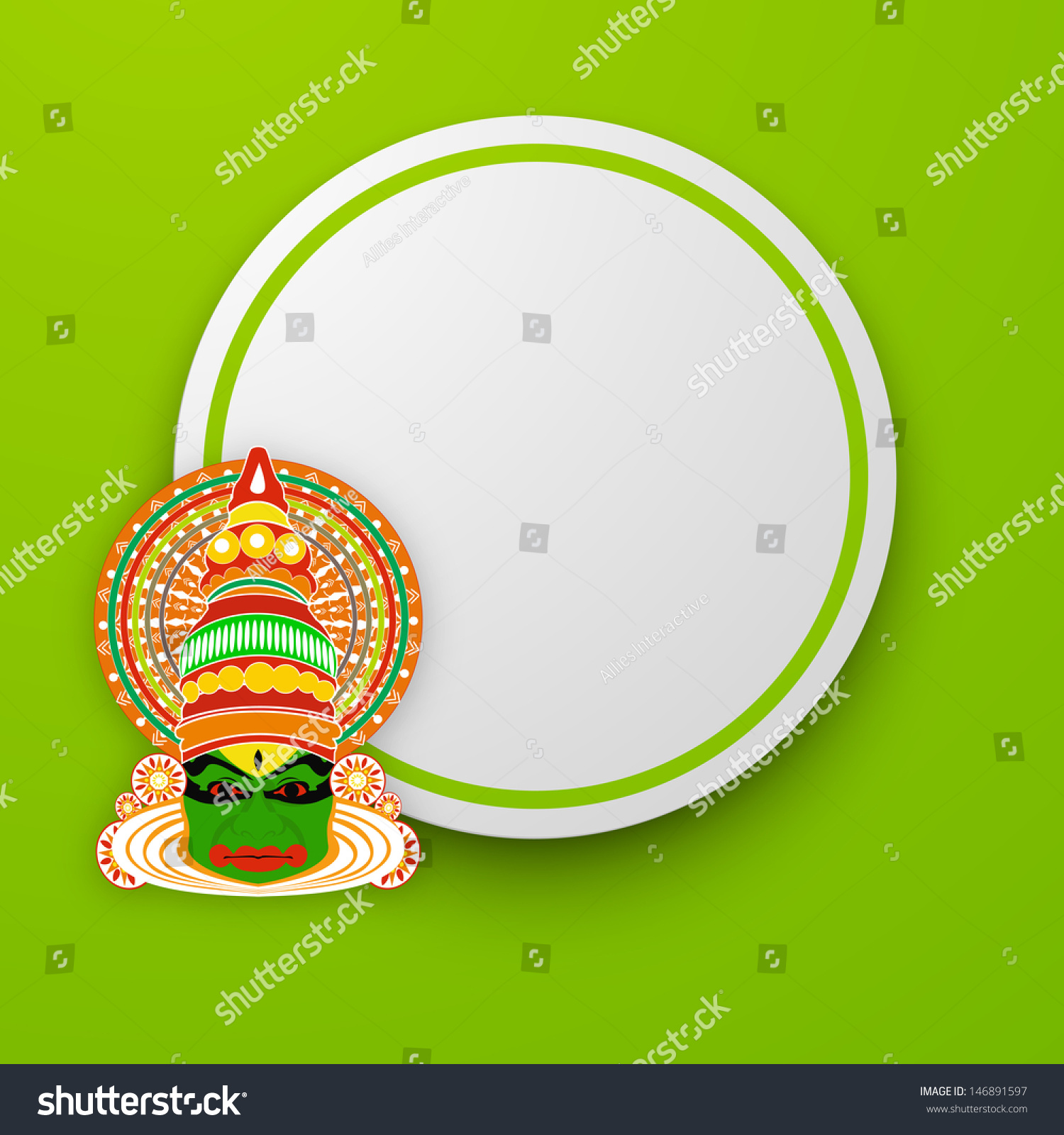 South Indian Festival Onam Wishes Background Stock Vector Royalty