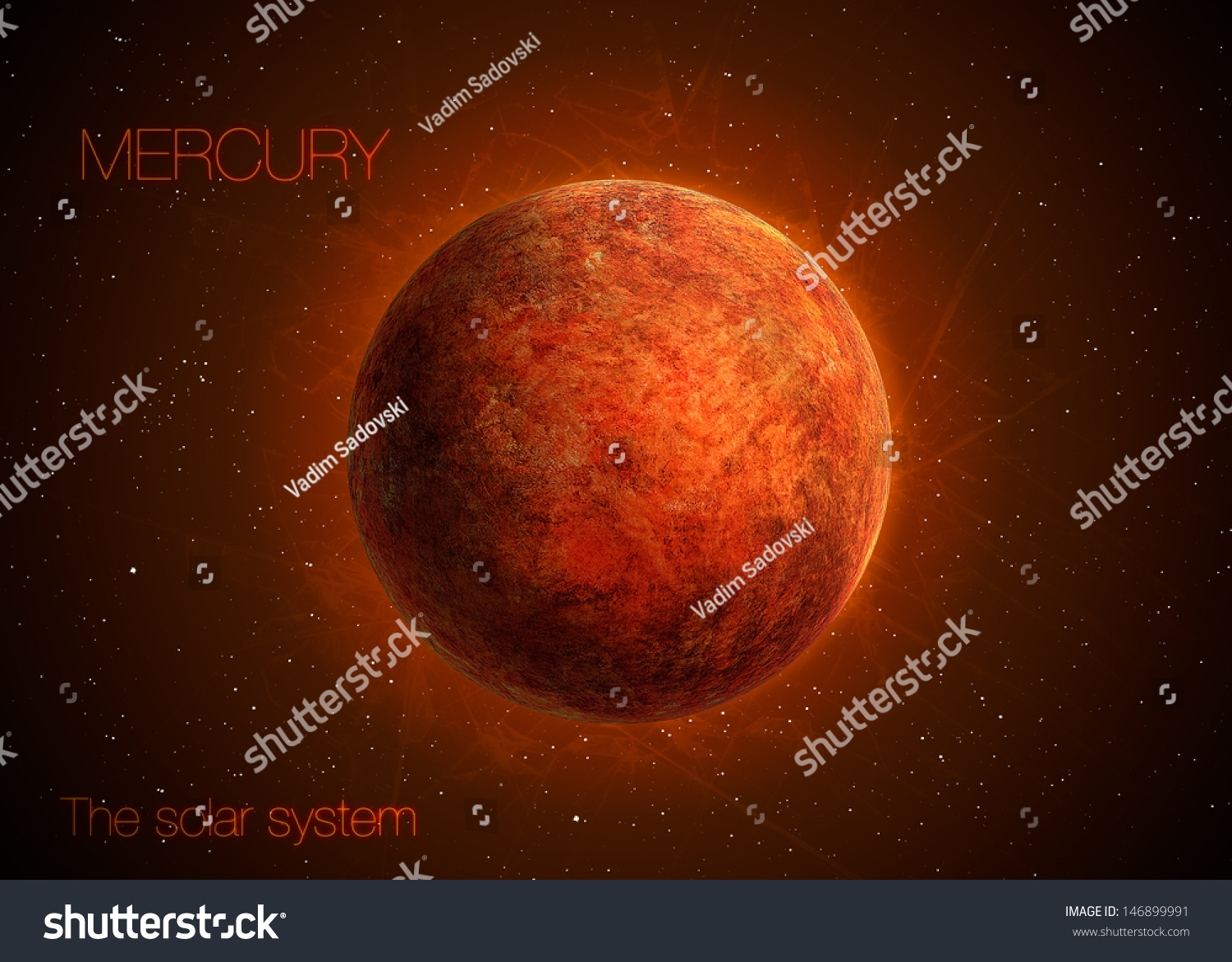 Solar System Planet Mercury Elements This Stock ...