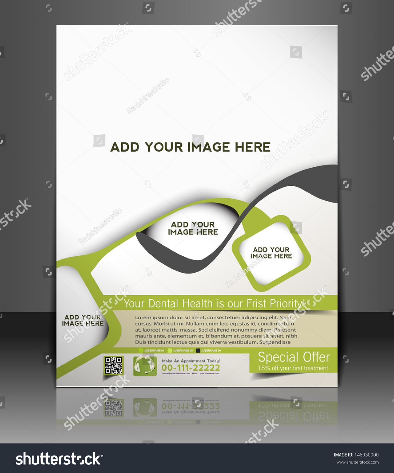 Vector Brochure Flyer Magazine: Vector Dental Brochure Flyer Magazine Cover Stock Vector