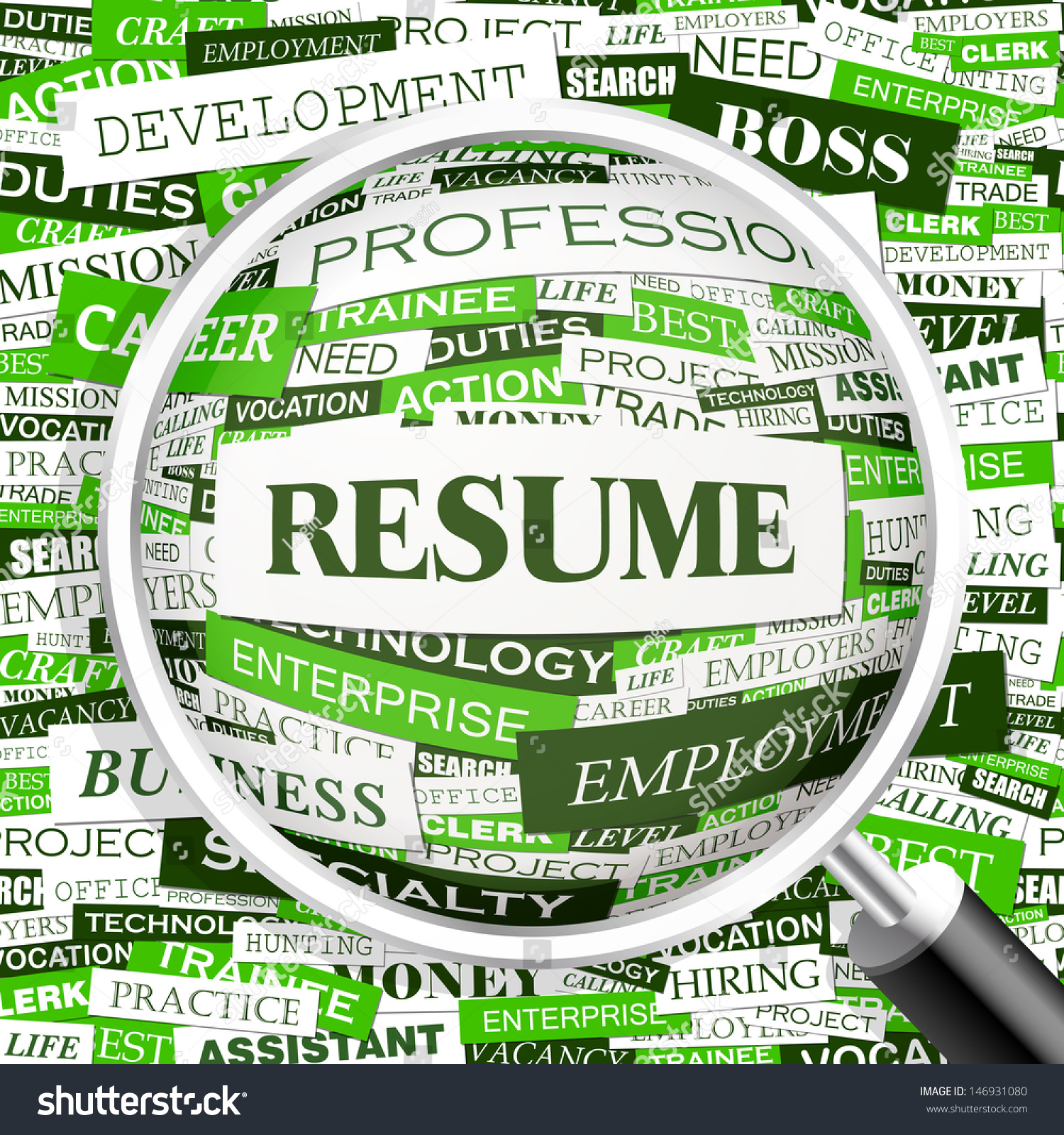 resume  word cloud concept illustration  graphic tag