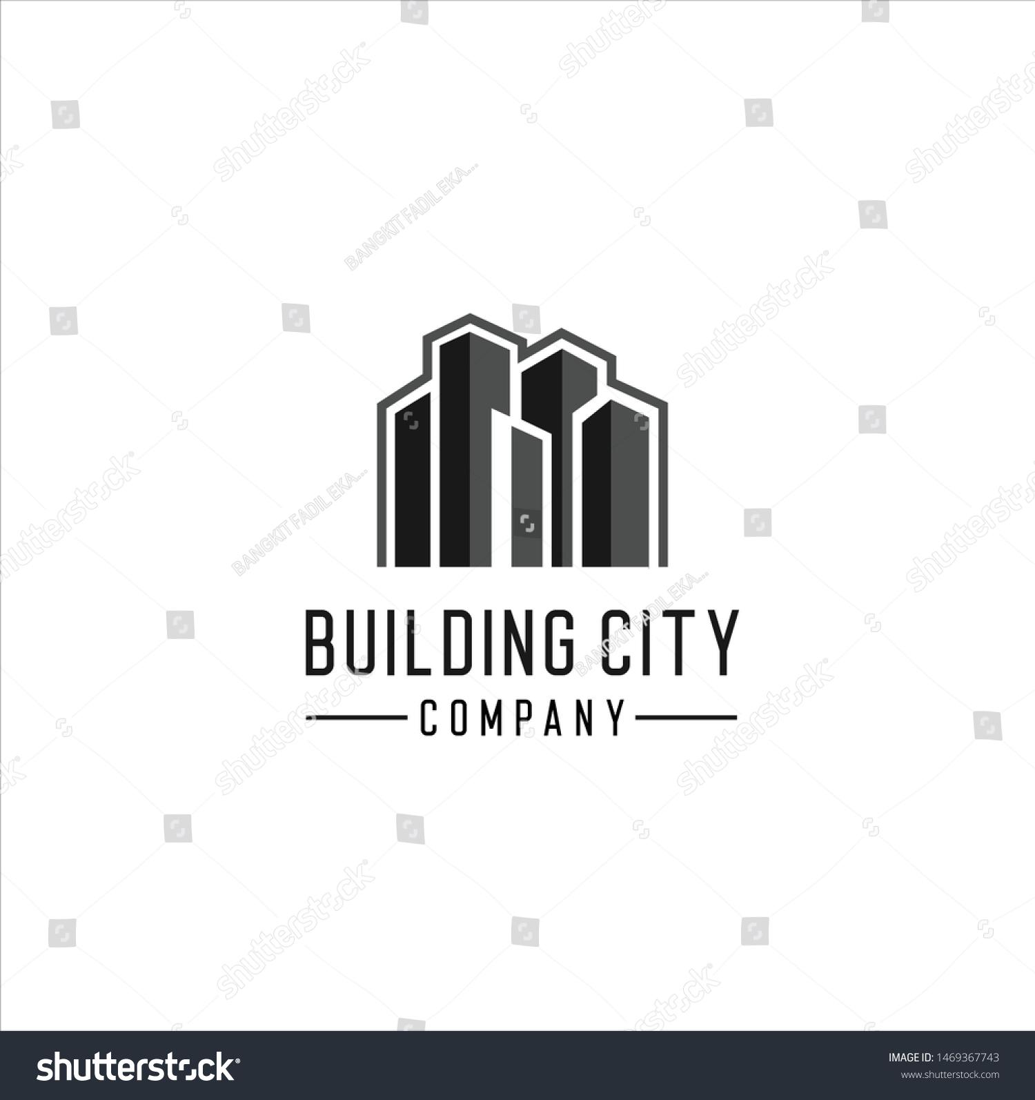 Building City Logo Design Inspiration Vector Stock Vector Royalty Free 1469367743