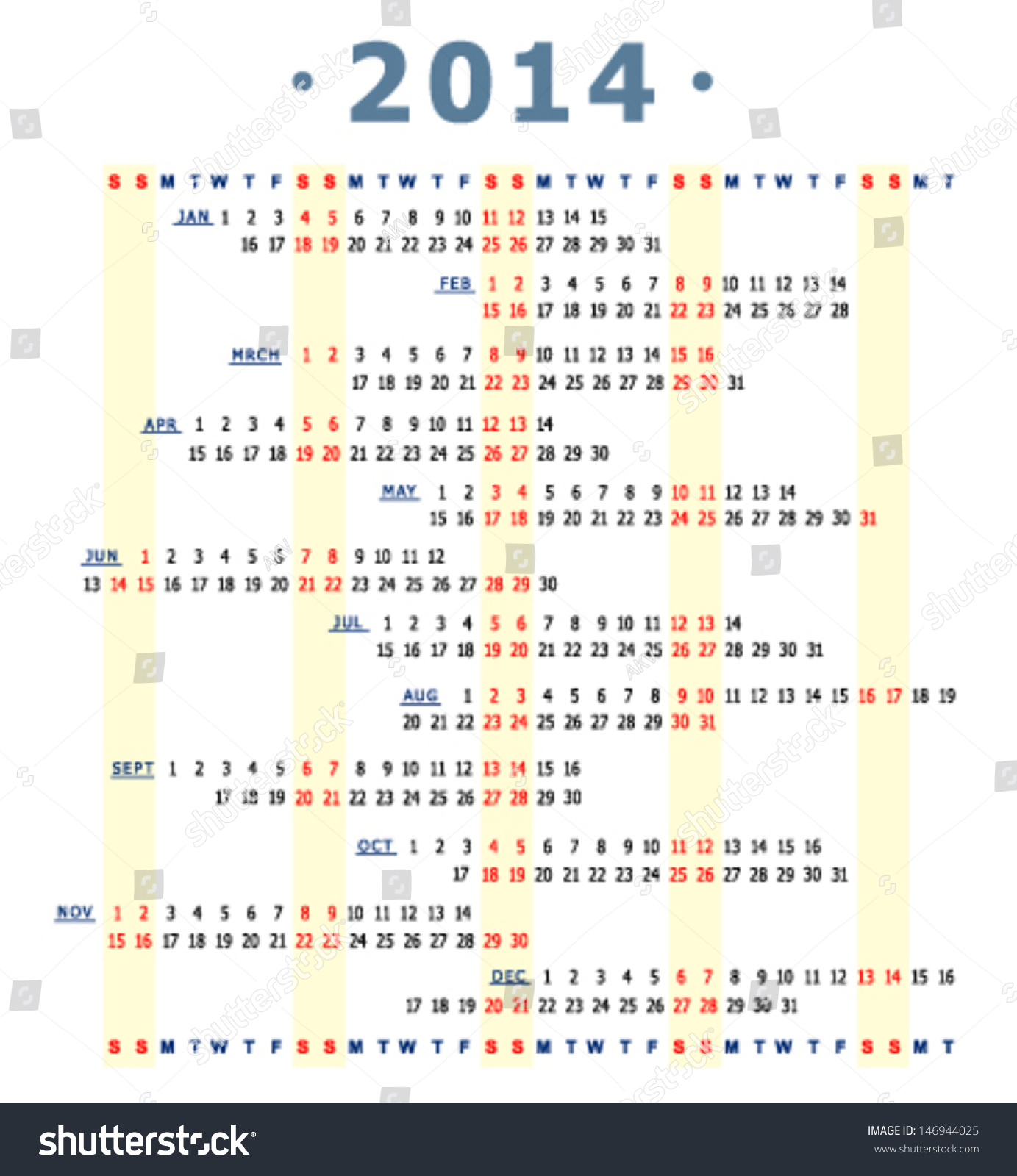 Original Graphic Scheme Year Calendar Stock Vector - Unique calander templates scheme