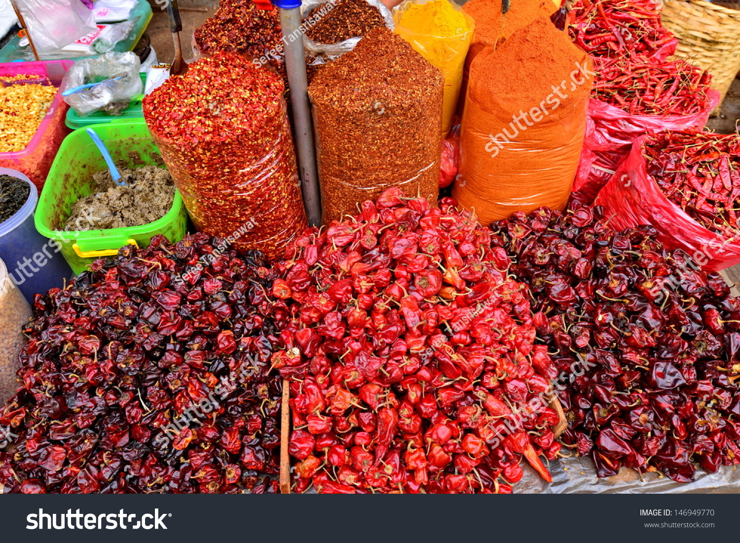 Mixed Beans Dried Fruits Local Market Stock Photo (Edit Now