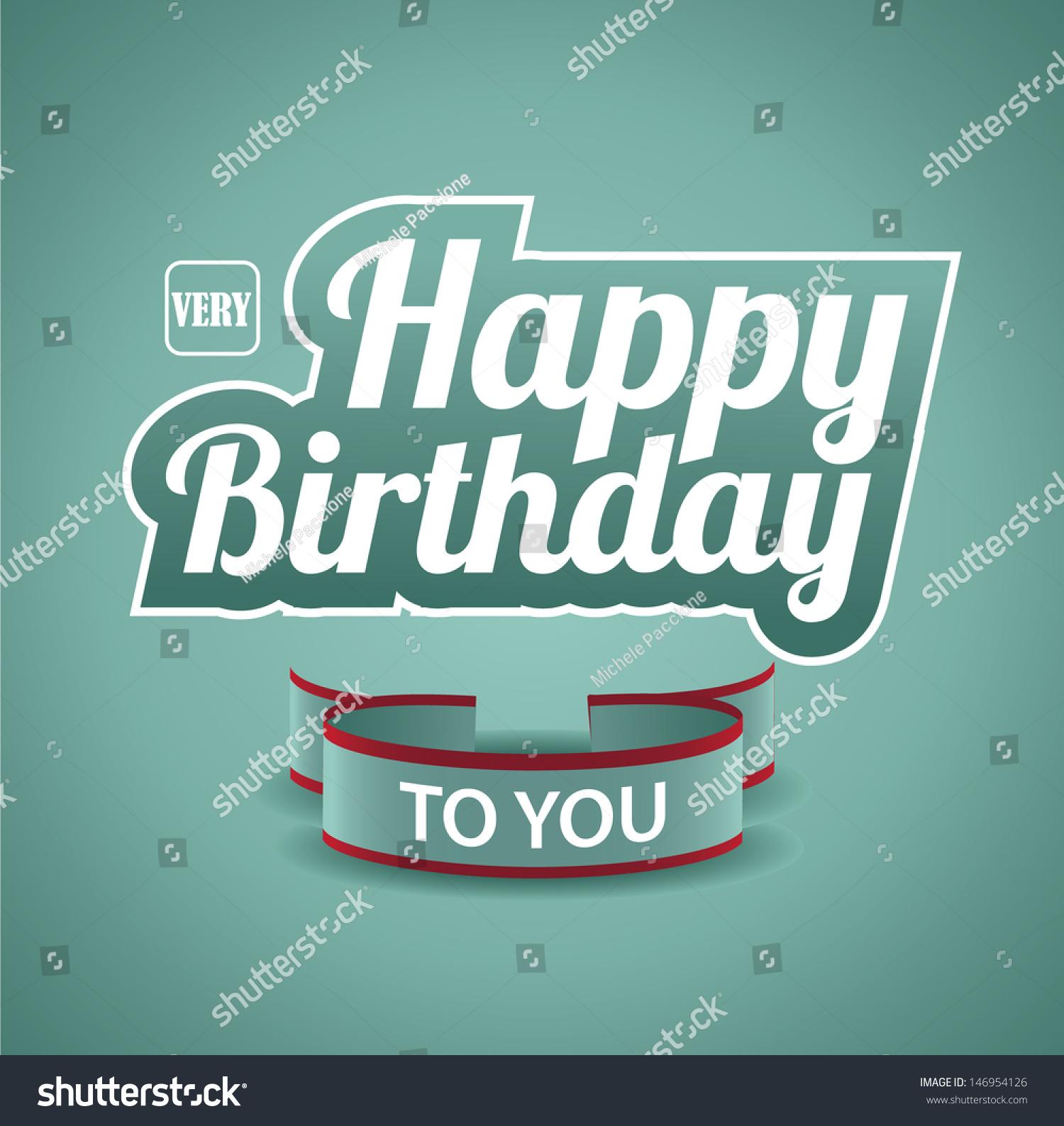 Birthday Card Eps 10 Vector Grouped Vector 146954126 – Birthday Card Editing Photo