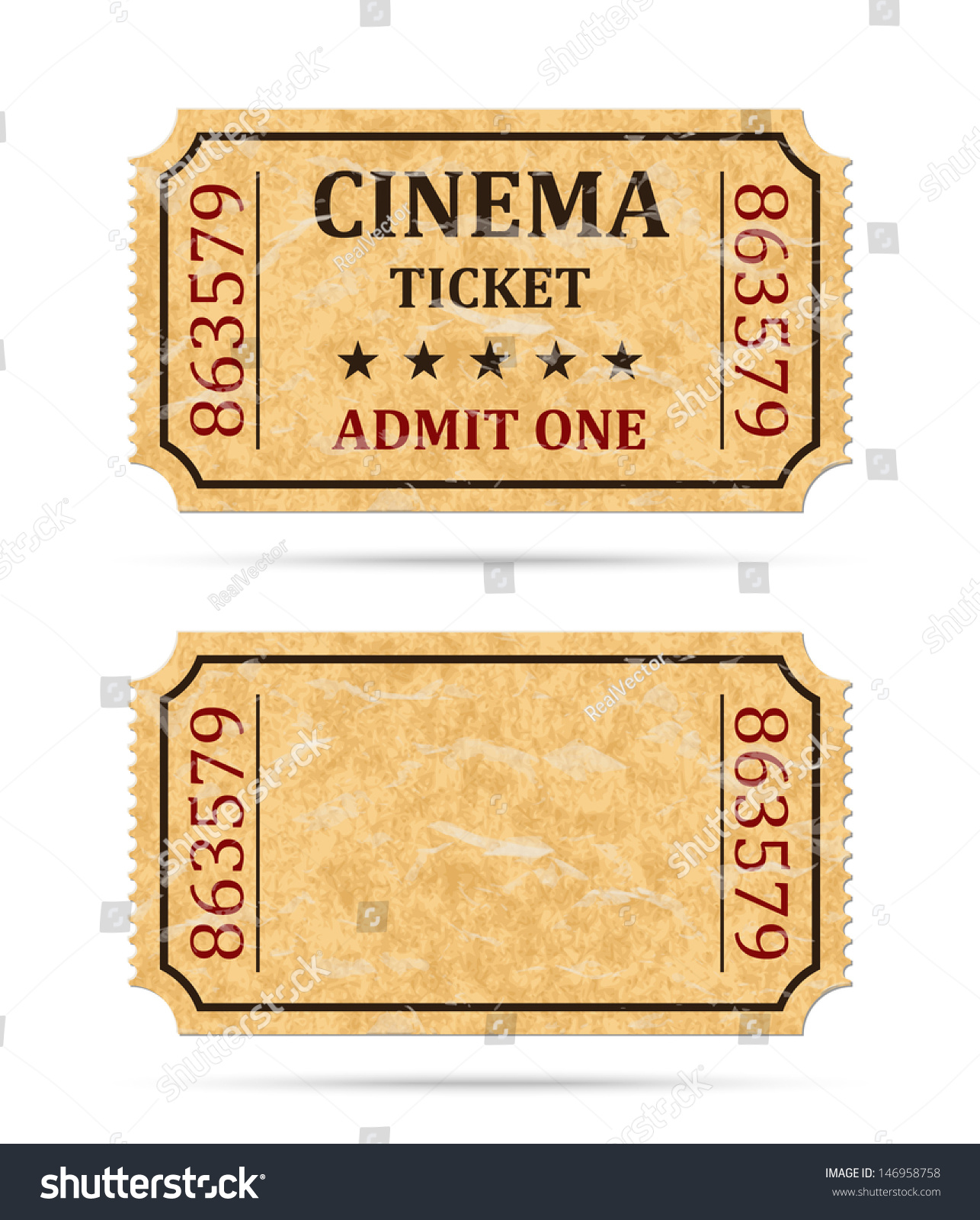 Doc400208 Admit One Ticket Template Free Admit one ticket – Movie Ticket Template Free