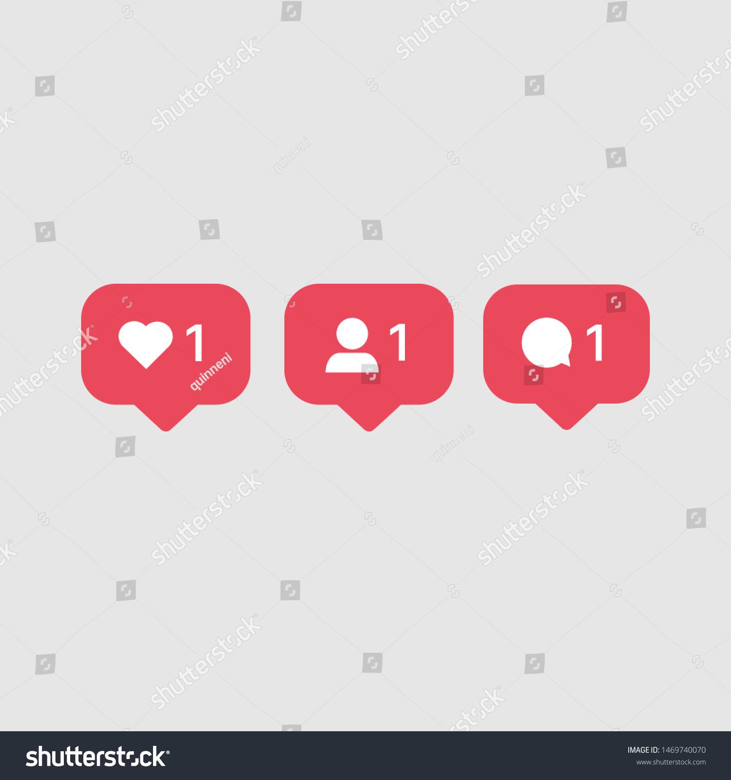 Instagram ähnliche Kommentare folgen Symbolen. Beliebte ...