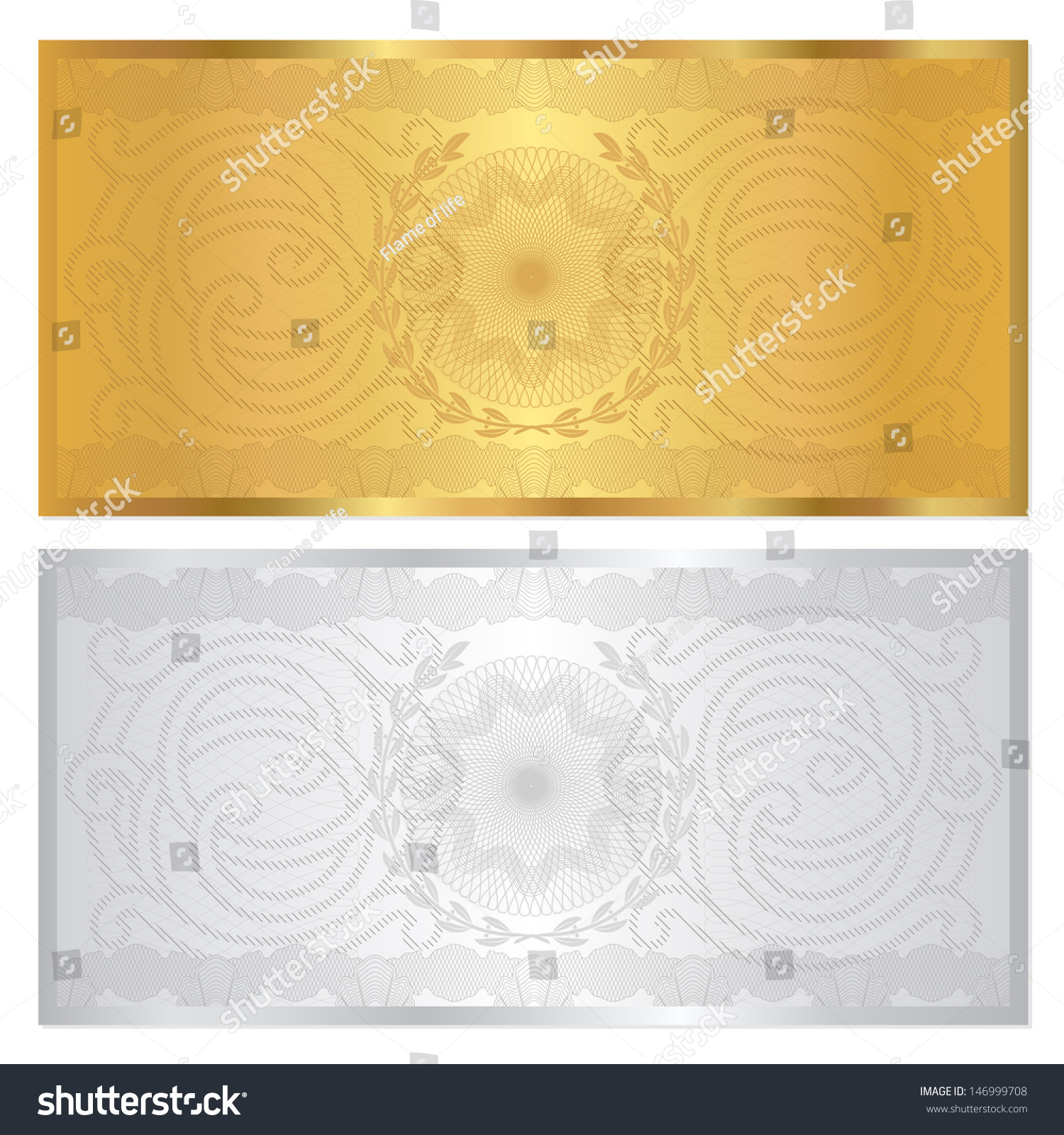 Voucher Template Guilloche Pattern Watermark Border – Check Voucher Template