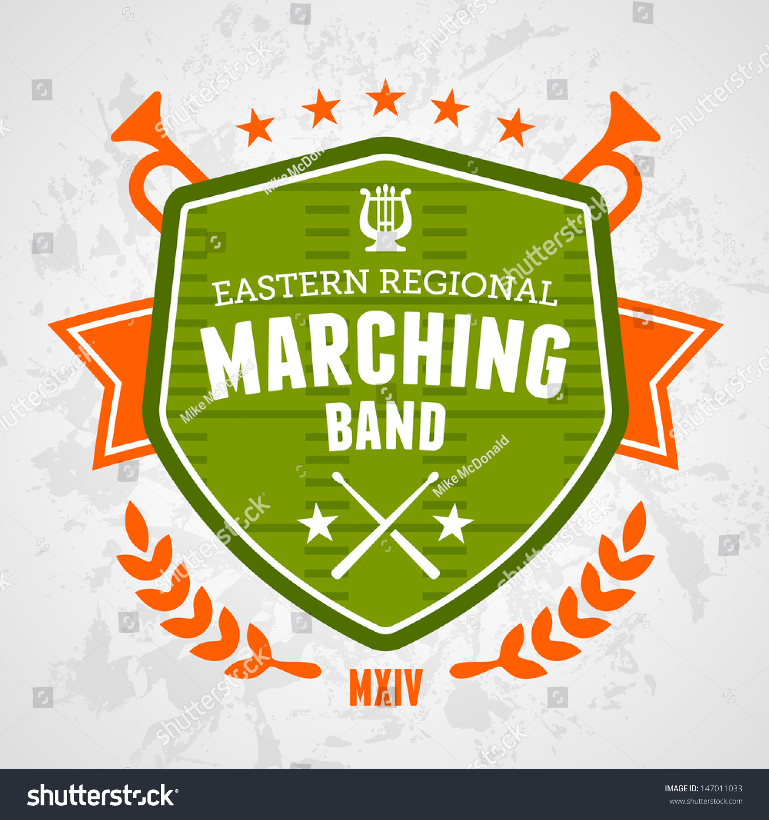 Marching Band Drum Corp Emblem Logo Stock Vector 147011033 ...