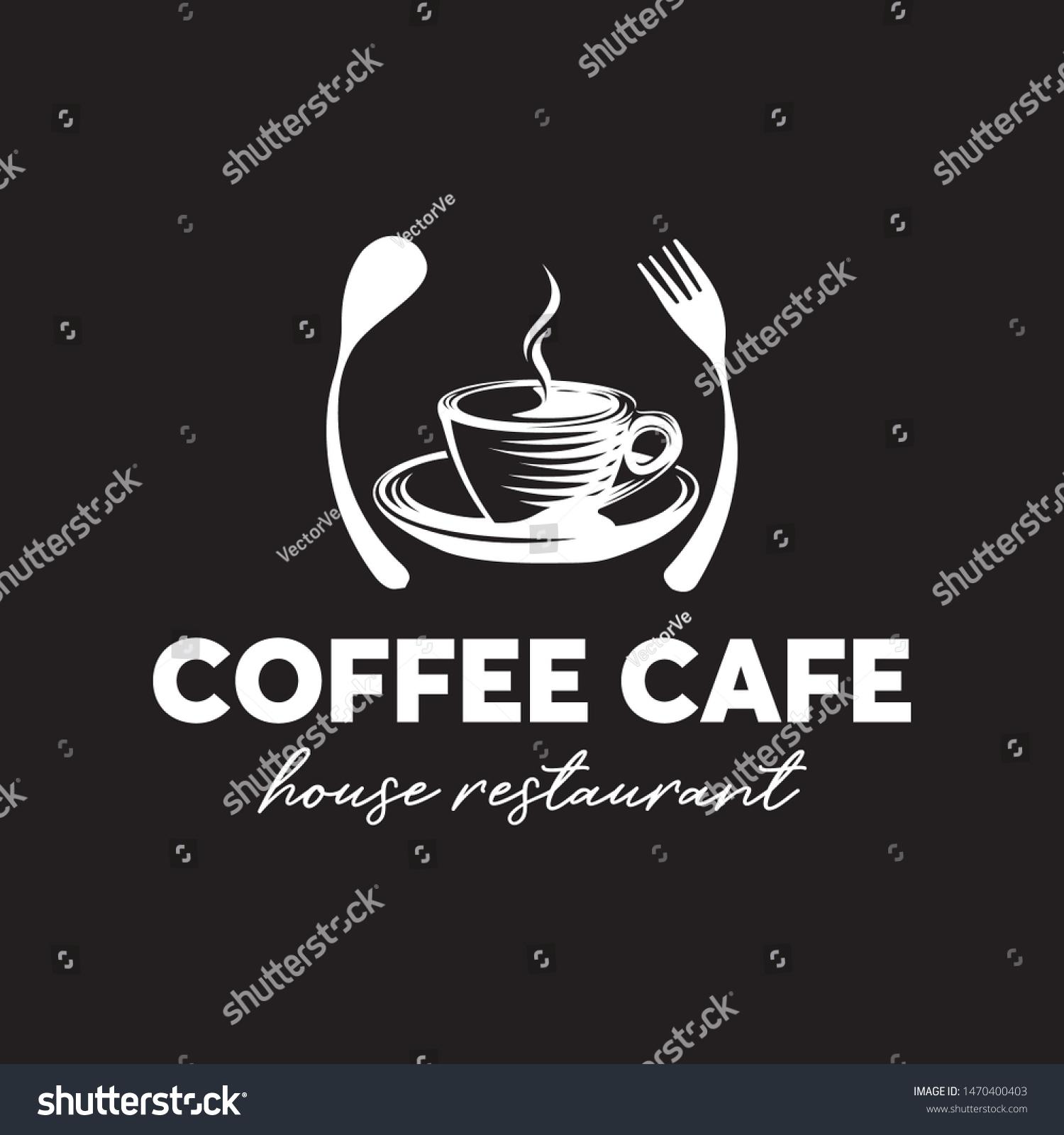 Coffee Cafe Restaurant Logo Design Template Stock Vector Royalty Free 1470400403