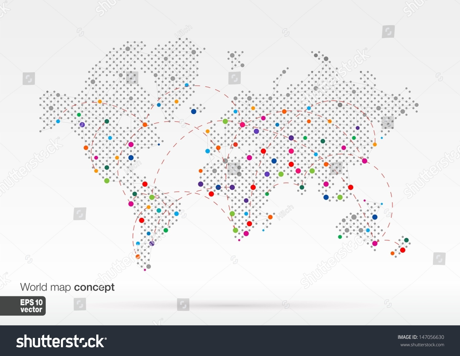 Stylized world map concept biggest cities stock vector 147056630 stylized world map concept with biggest cities globes business backgroundlorful vector illustration gumiabroncs Gallery