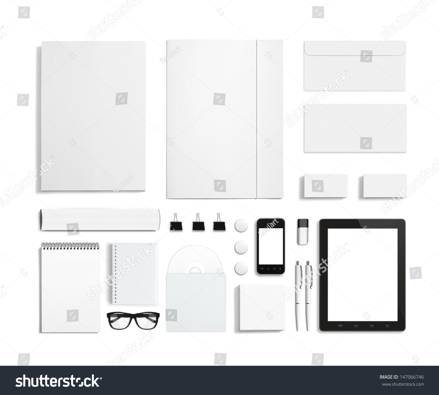 Blank Stationery Corporate Id Template Consist Stock Illustration ...