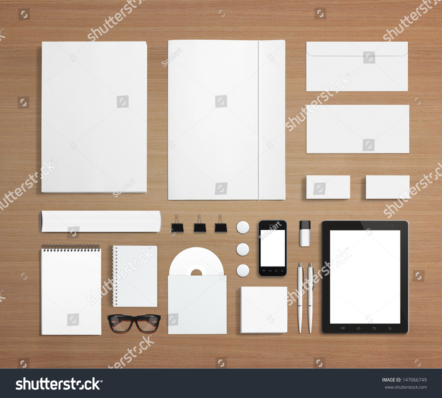 blank stationery corporate id template consist stock illustration