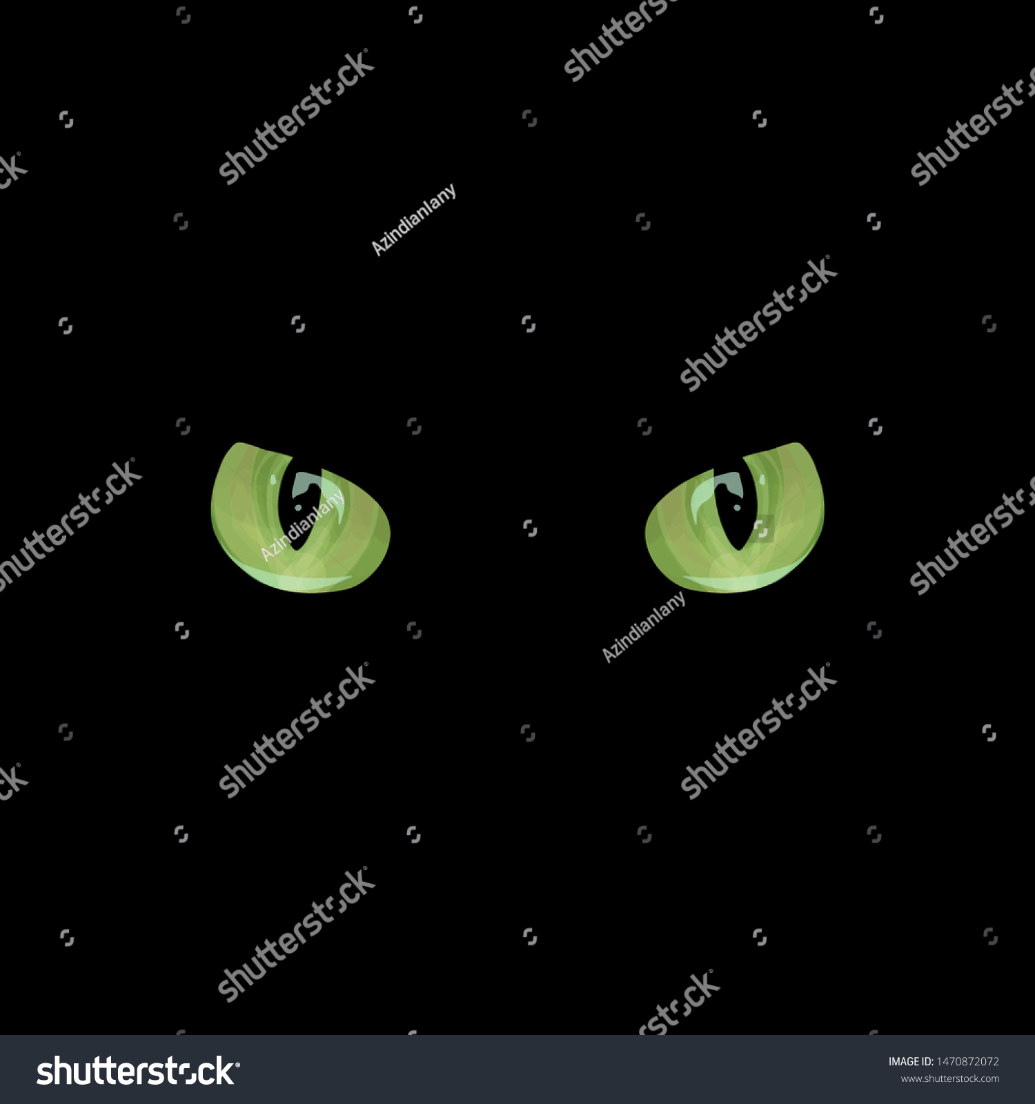 Black Cat Friday 13th Freehand Design Stock Vector Royalty Free