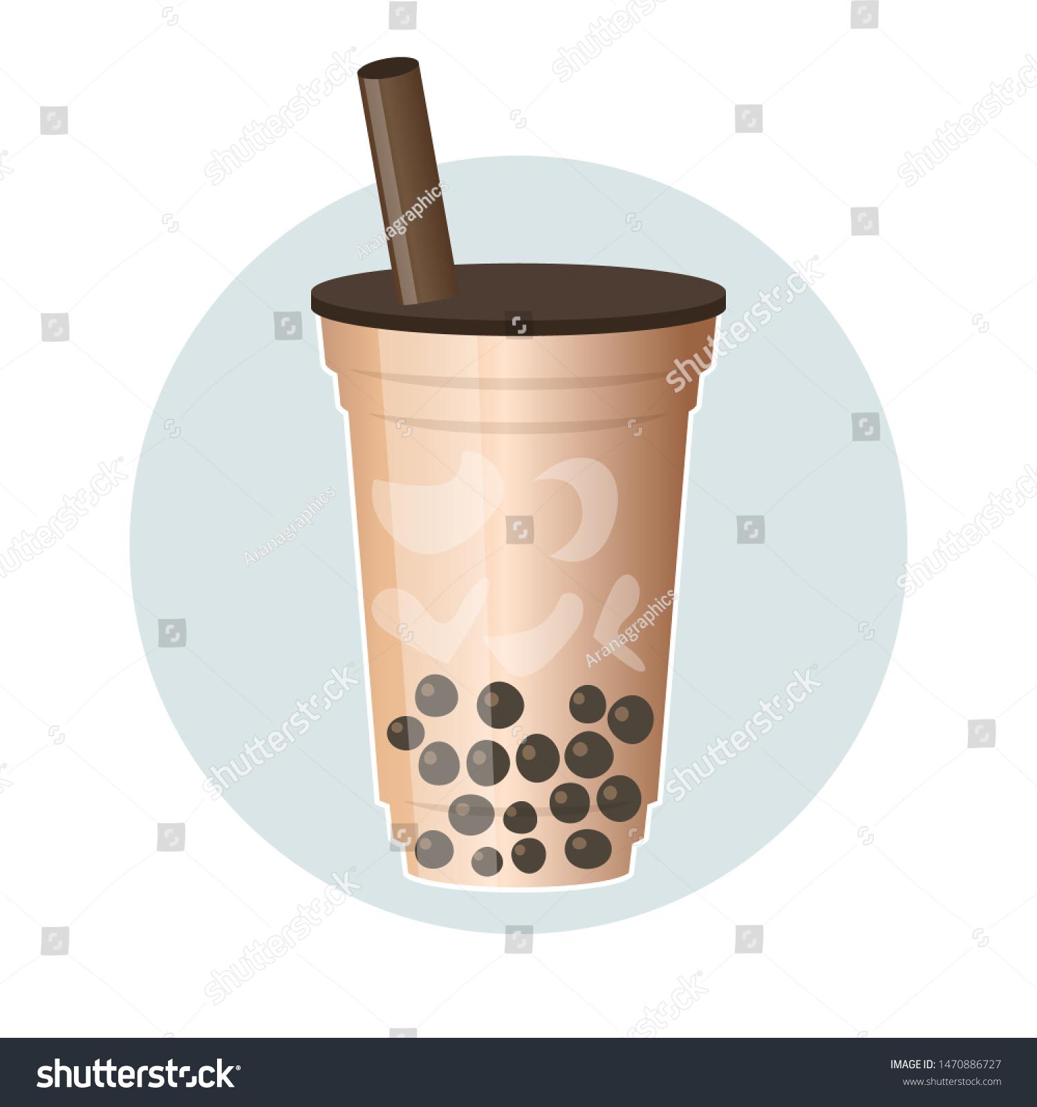 bubble tea pearl milk tea vector stock vector royalty free 1470886727 https www shutterstock com image vector bubble tea pearl milk vector illustration 1470886727