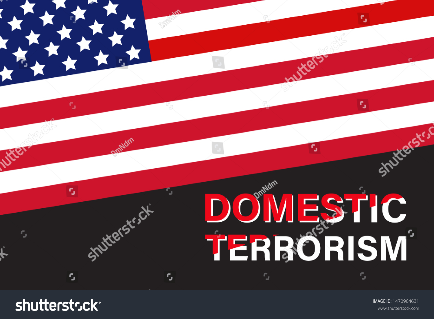 Domestic Terrorism Text Us Flag ...