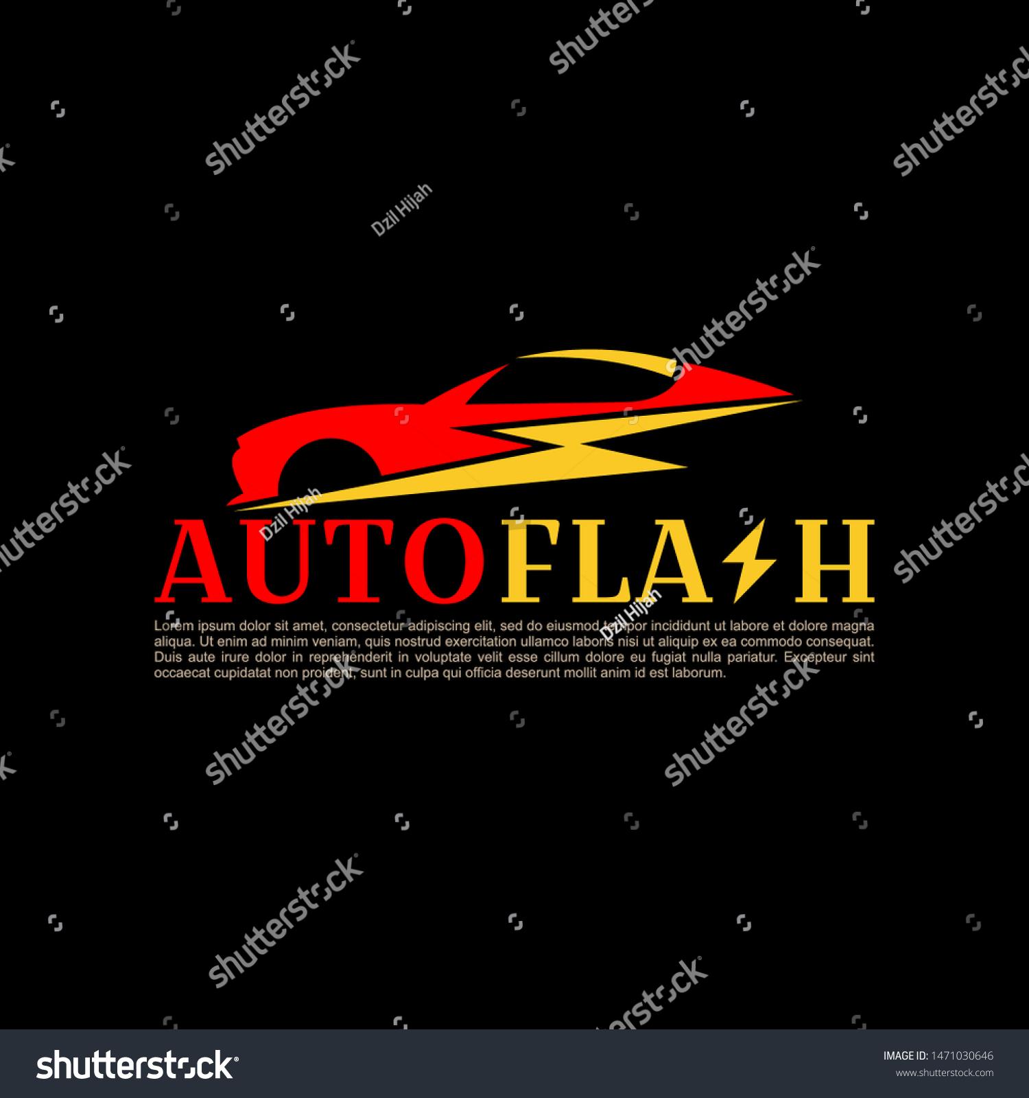 Auto Flash Car Business Logo Design Stock Vector Royalty Free 1471030646