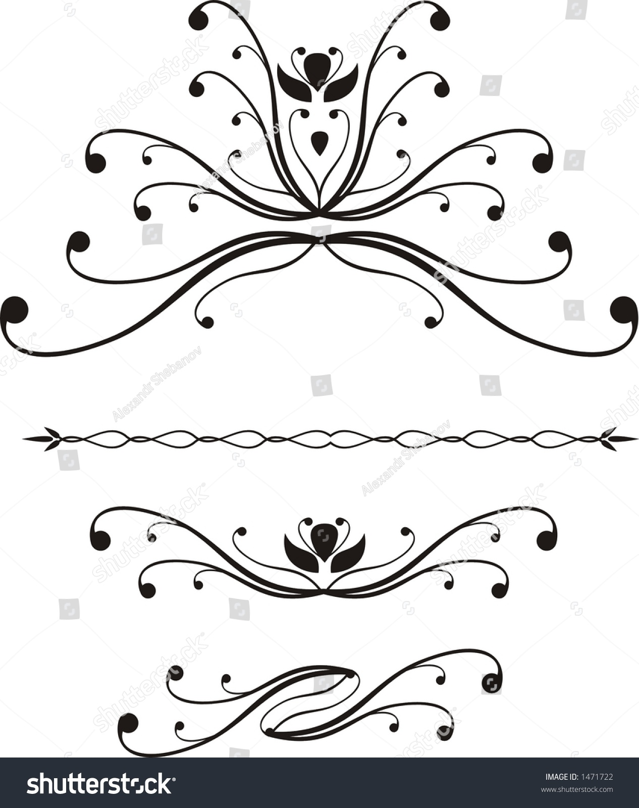 Abstract Calligraphy Stock Vector Illustration 1471722