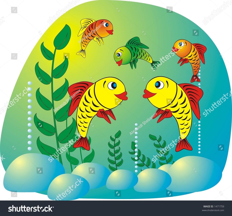 Fish tank clipart - Aquarium Fish Illustration