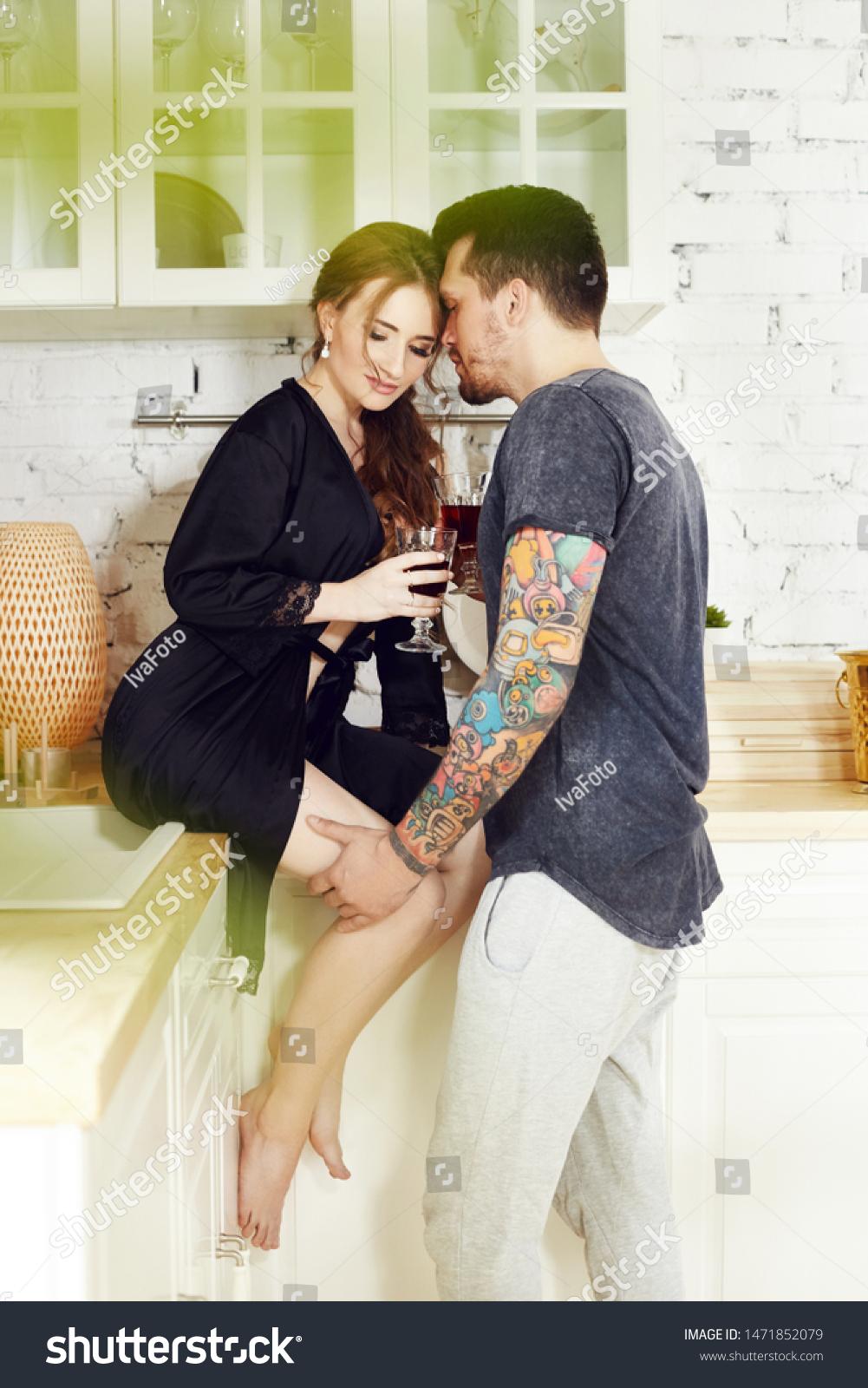 Couple Love Has Breakfast Kitchen Early Stock Photo Edit Now 1471852079