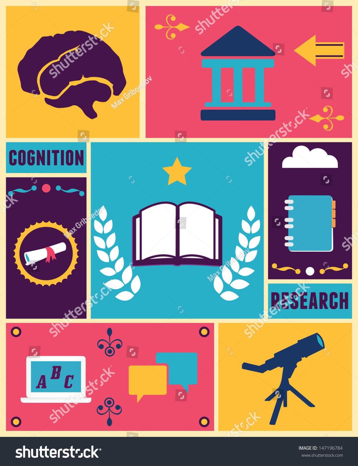 Retro Poster Education Vector Illustration Stock Vector 147196784 ...